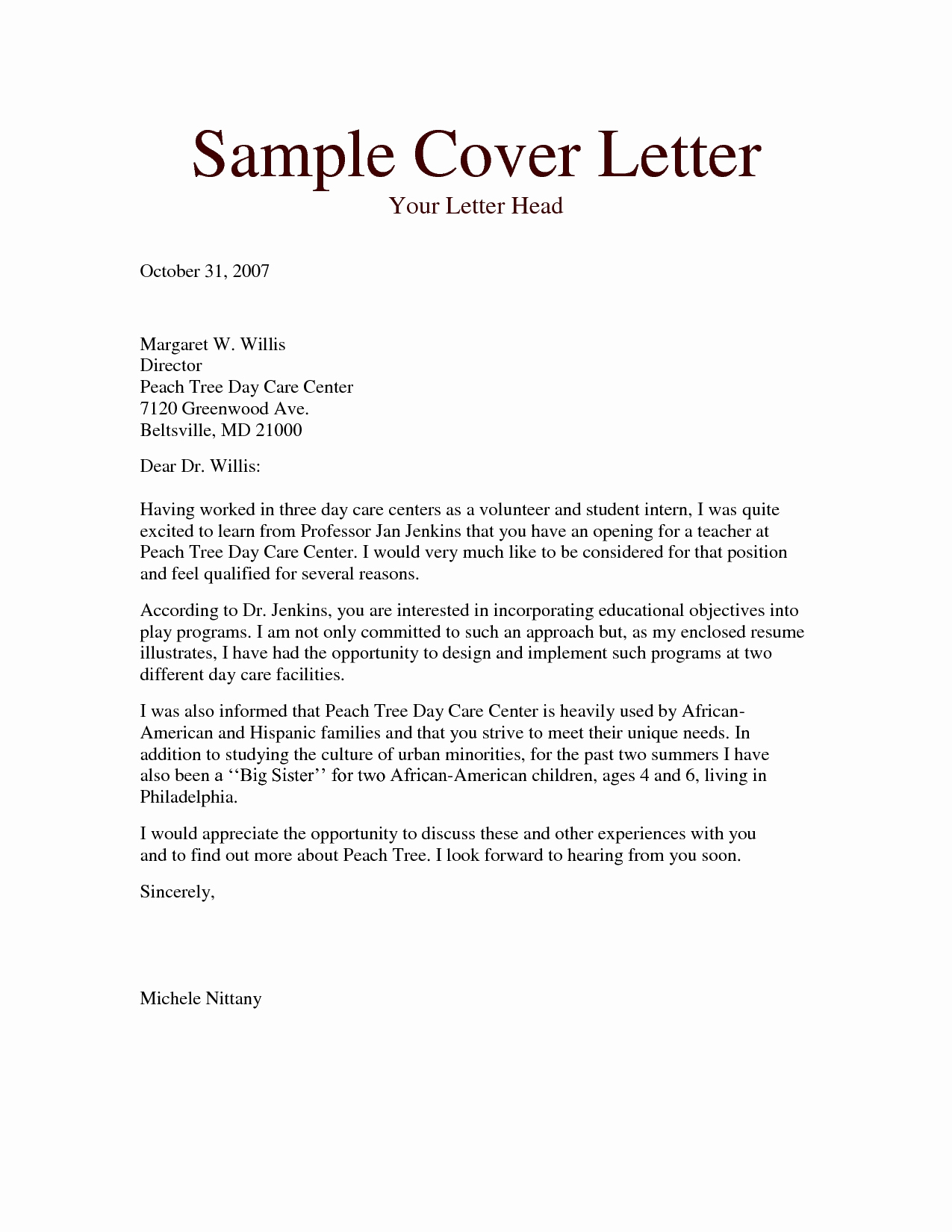 Daycare Letter to Parents Template - Resume for Child Care Luxury Child Care Letters Incepagine Ex – Best
