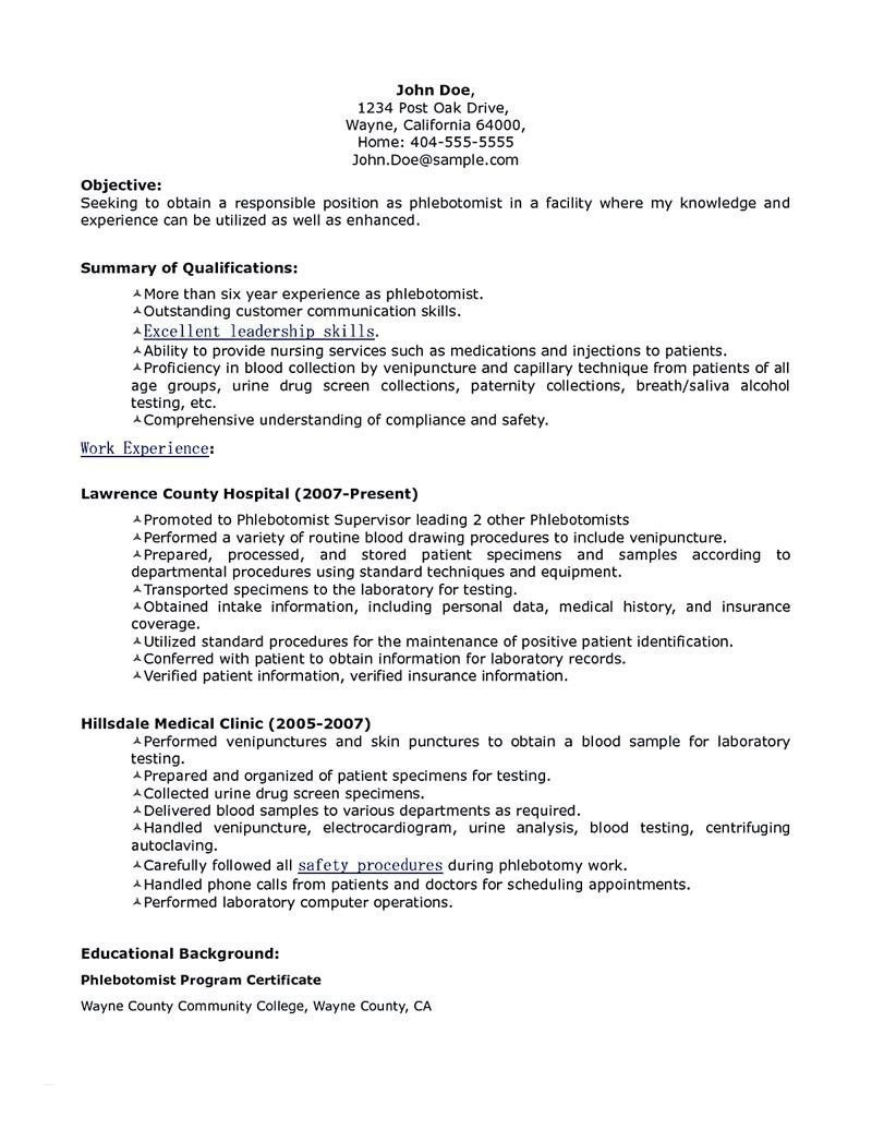 Phlebotomy Cover Letter Template - Resume for Entry Level Unique Entry Level Cover Letter Sample Get A
