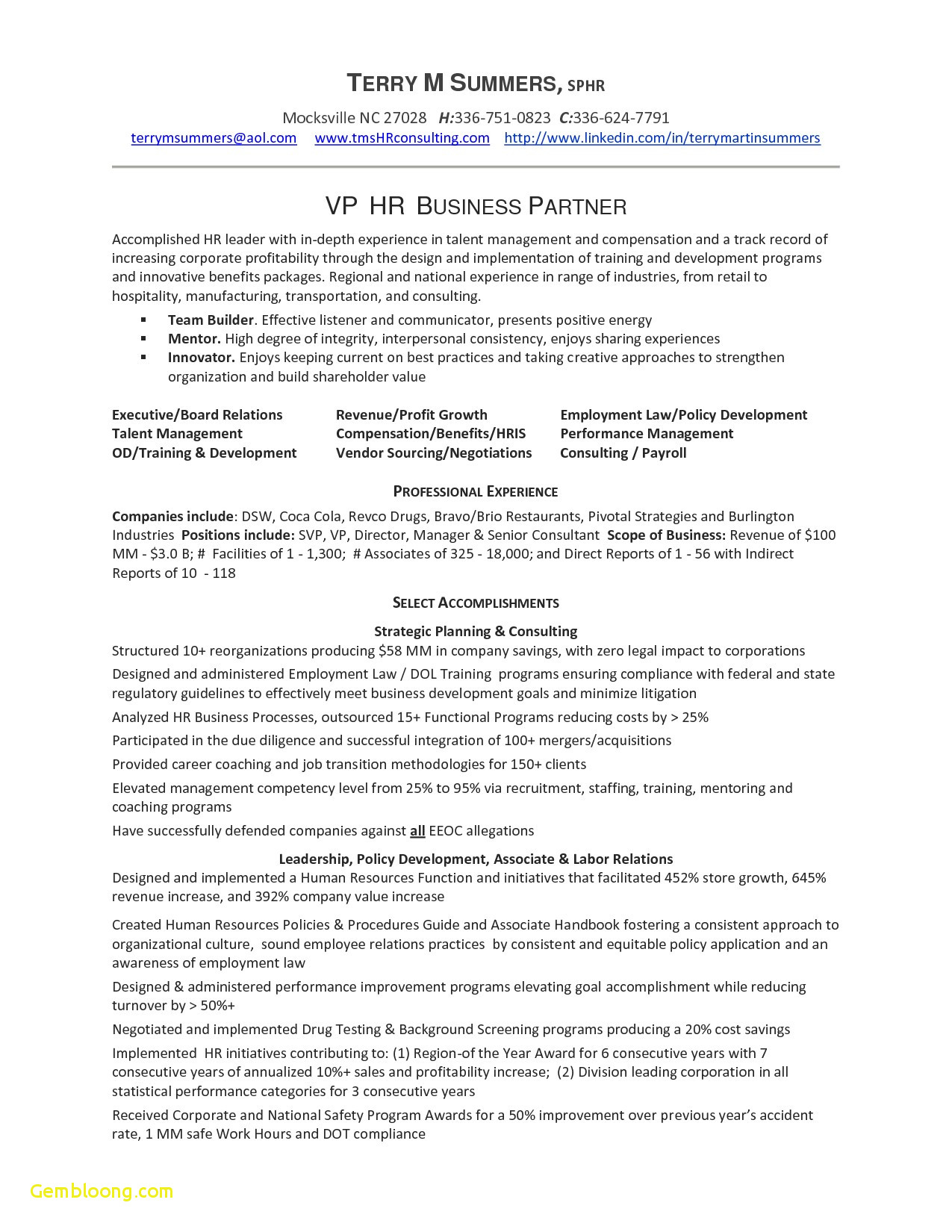 Vendor Letter Template - Resume for Human Resources Job Download now Cover Letter Template Hr