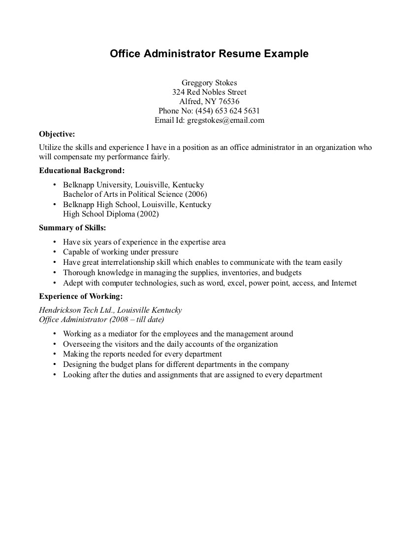 Cover Letter Template for High School Students - Resume for Undergraduate Student with No Experience Artist Resume