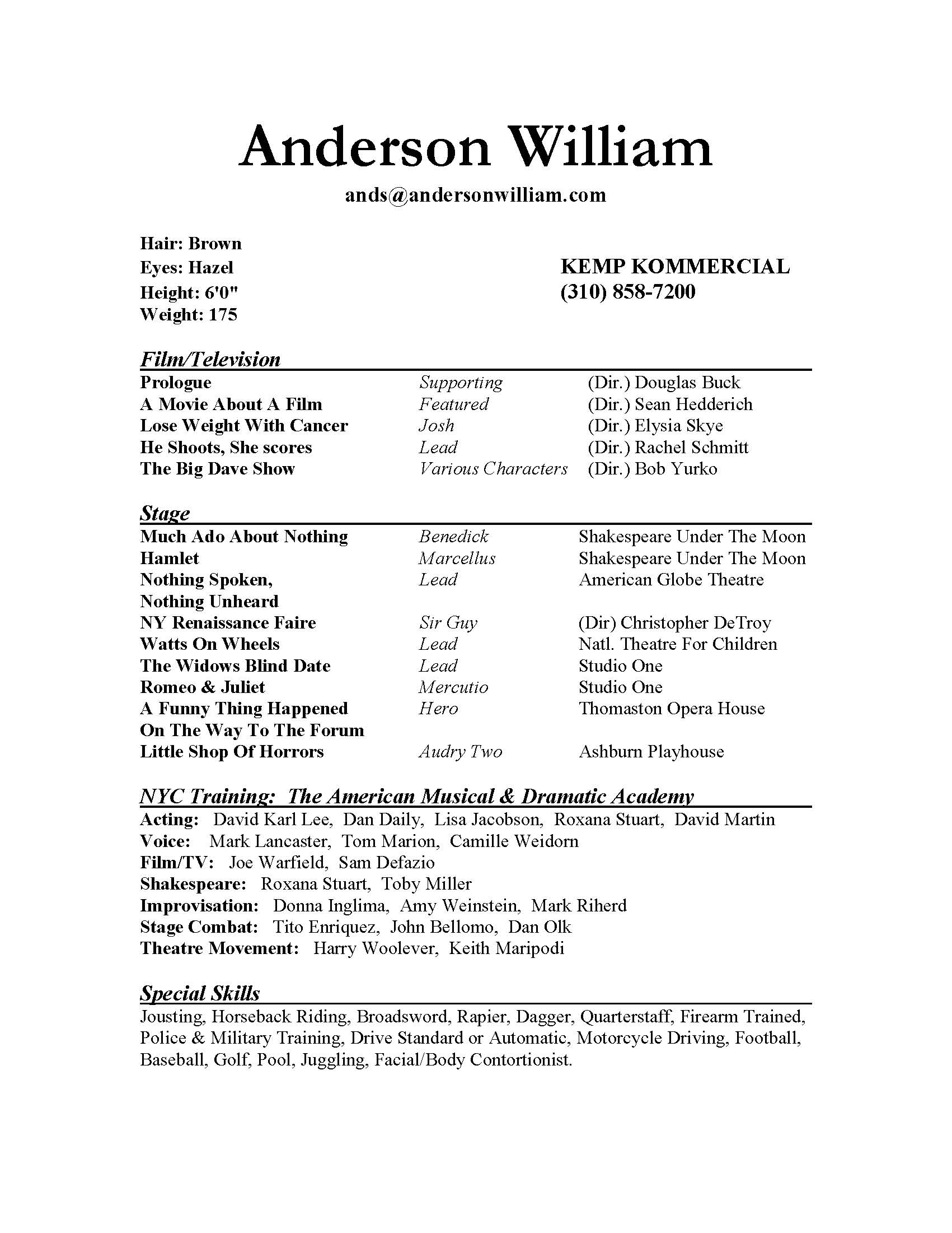 Theatre Cover Letter Template - Resume Letter Example Acurnamedia