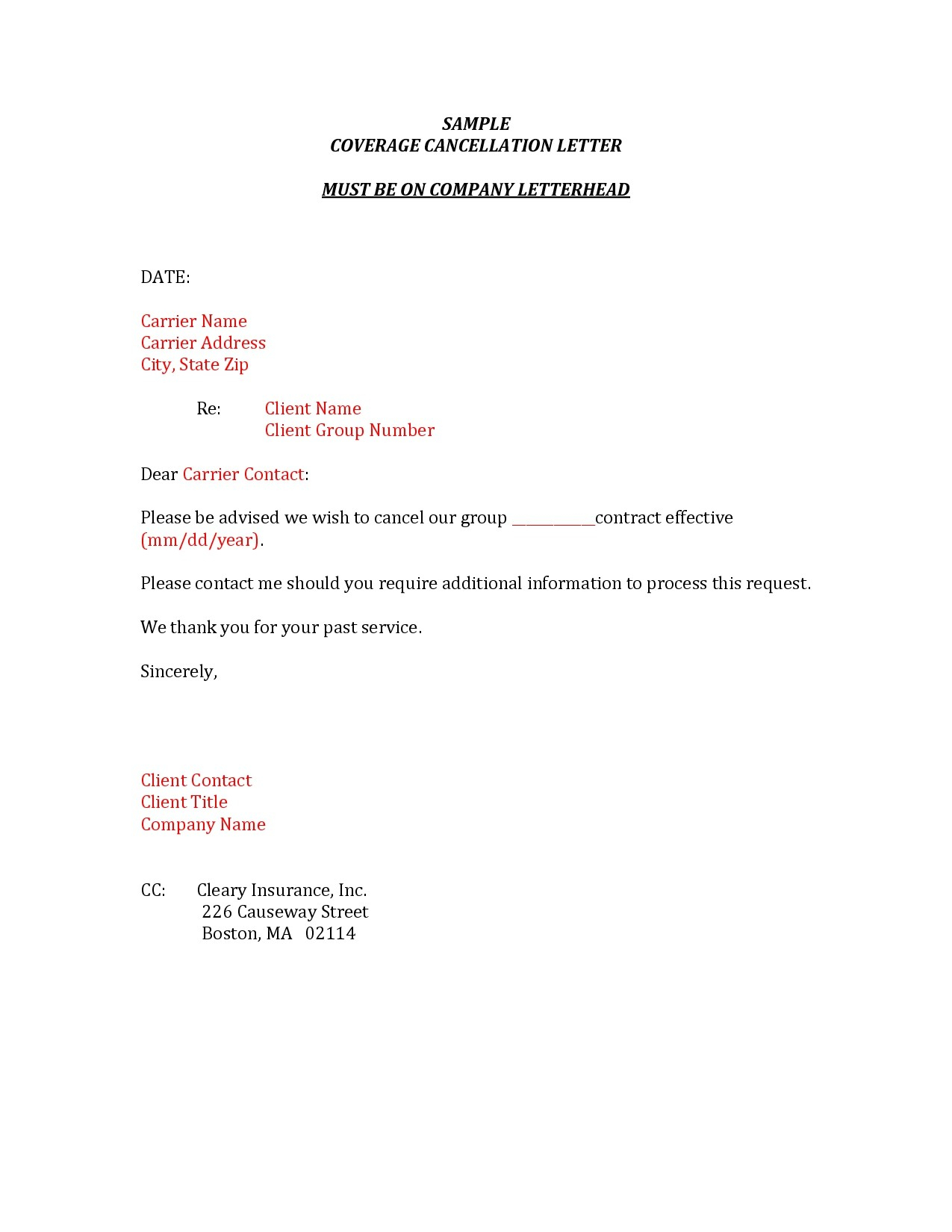 Insurance Cancellation Letter Template - Resume Letter format Archives Page 56 Of 106 Jameskilloran Co
