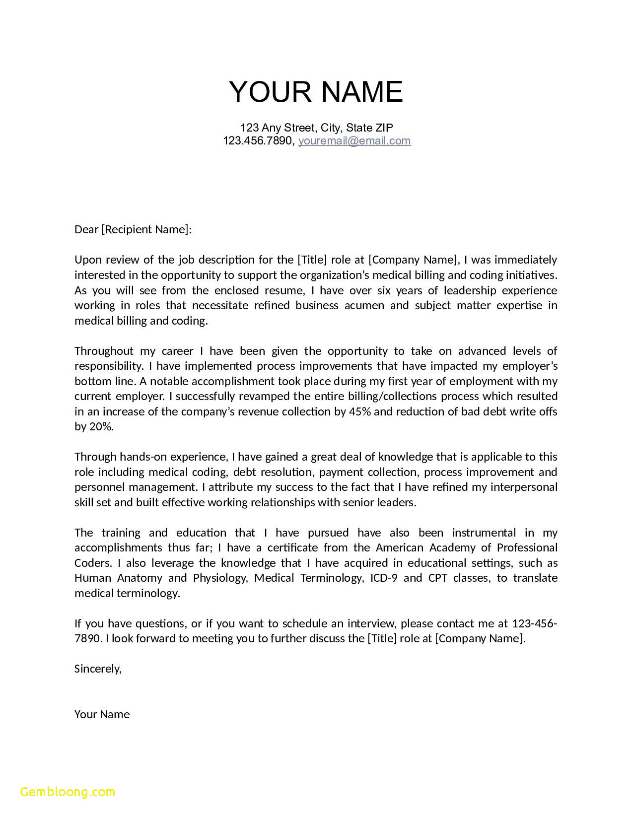 Free Online Cover Letter Template - Resume Maker Freeware Free Download Cover Letter Template for A Job