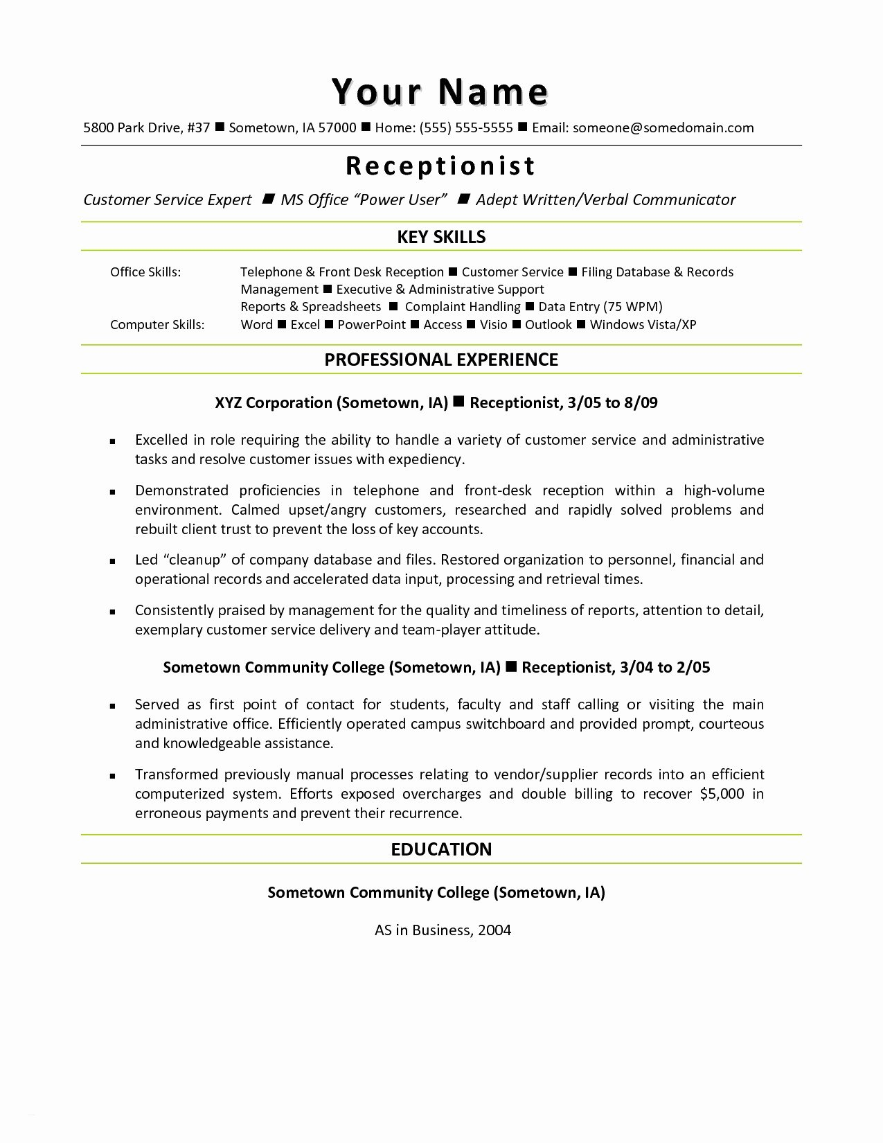 Letter Outline Template - Resume Outline Template New Resume Mail format Sample Fresh