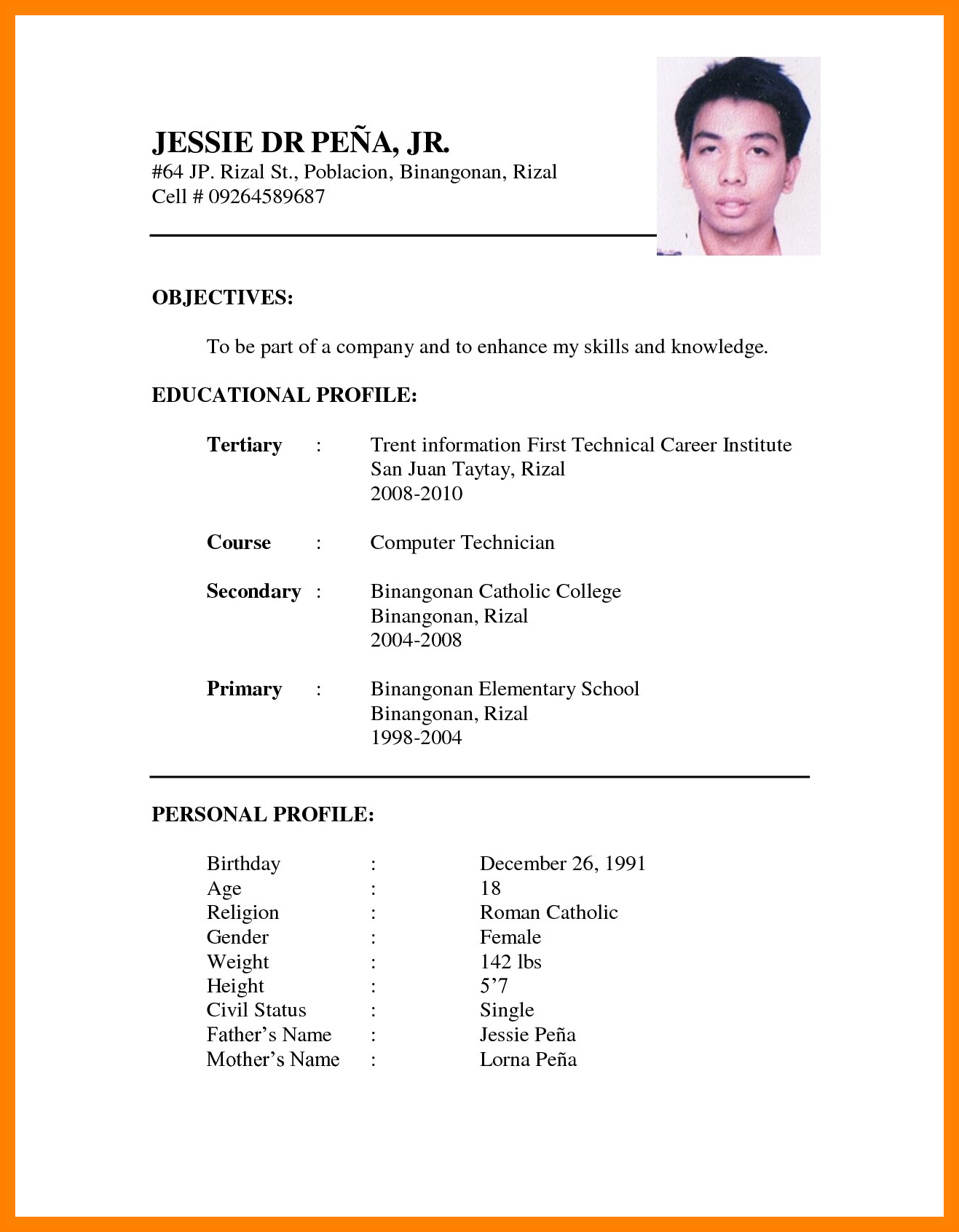 Job Application Letter Template Pdf - Resume Sample for Application Acurnamedia