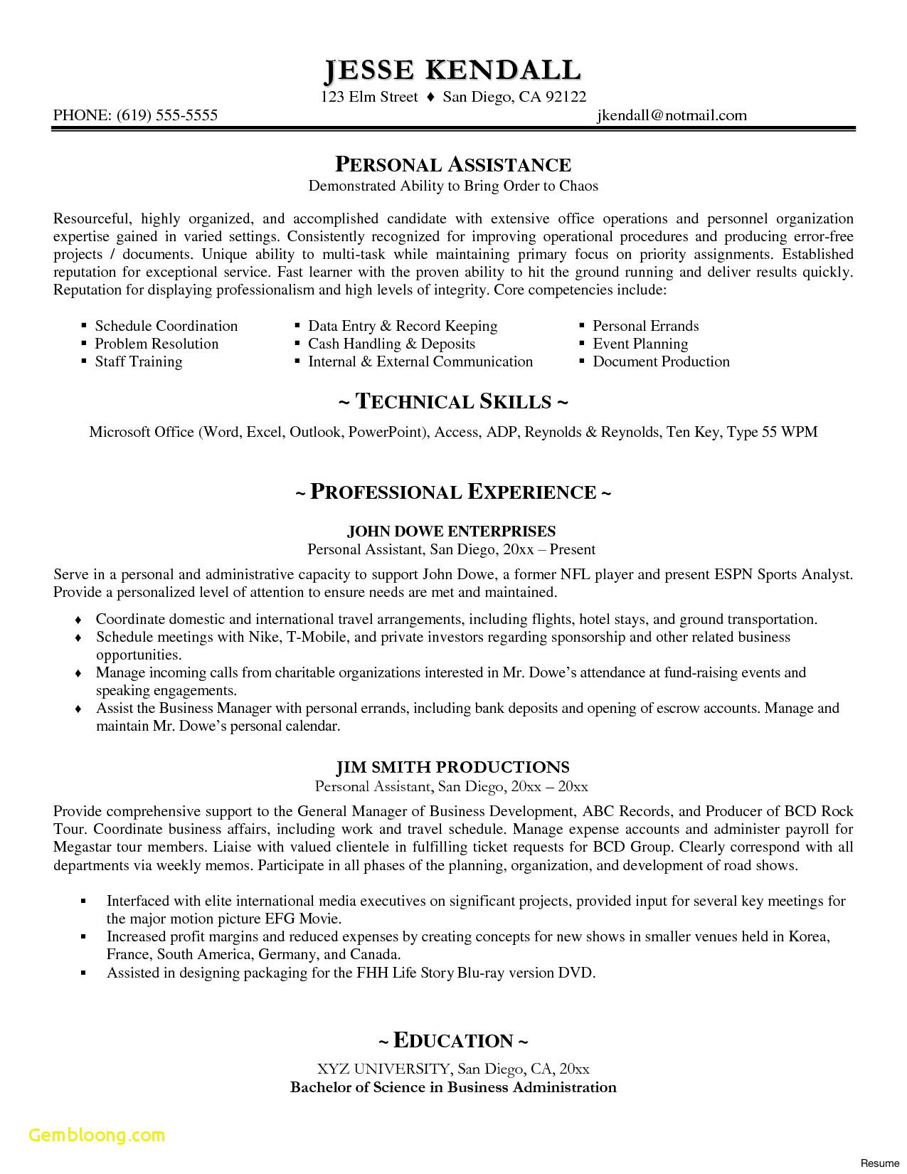 Motivation Letter Template Doc - Resume Samples Doc New Executive Resume Templates Word Od Specialist