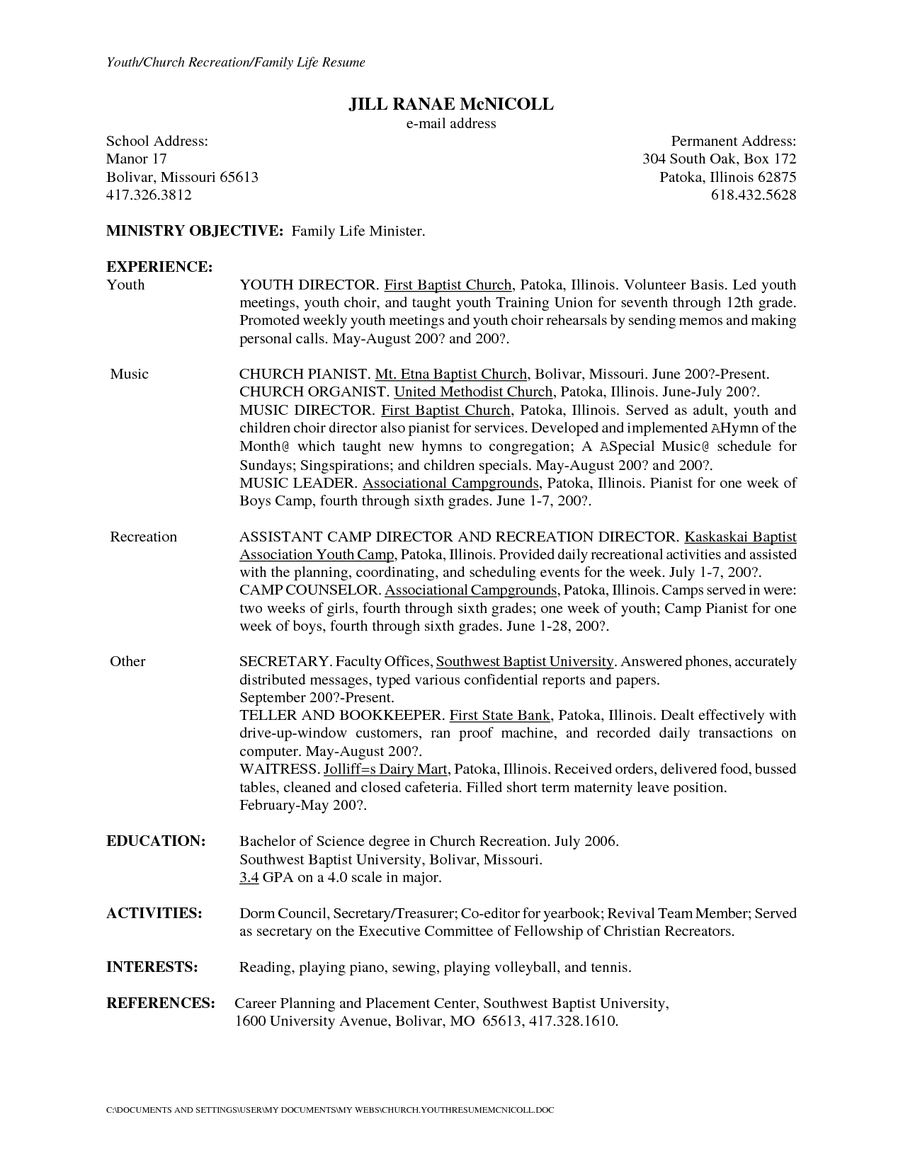 Secretary Cover Letter Template Samples | Letter Template ...