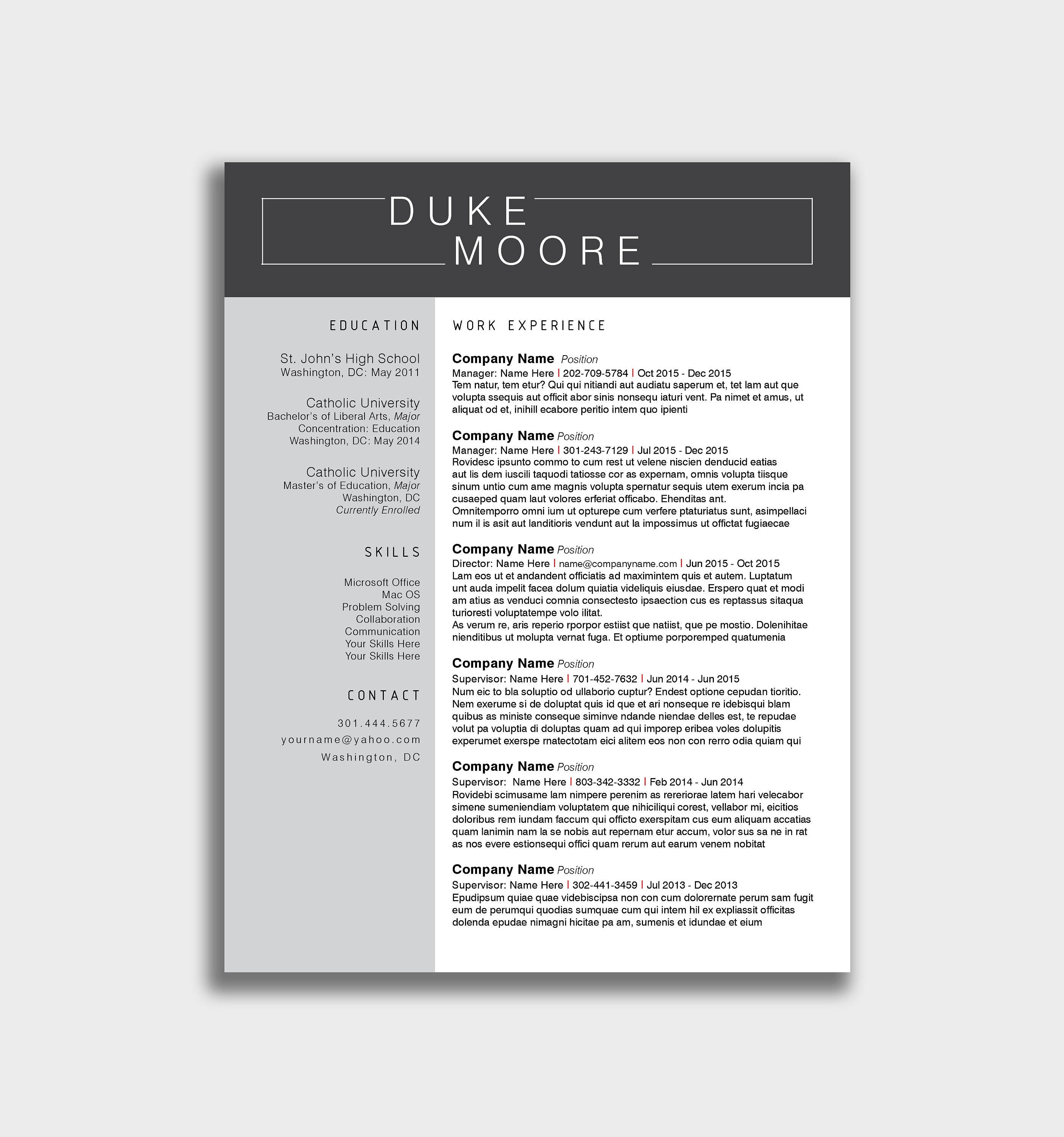 Indesign Letter Template - Resume Templates for Indesign New Shop Resume Template Free Best