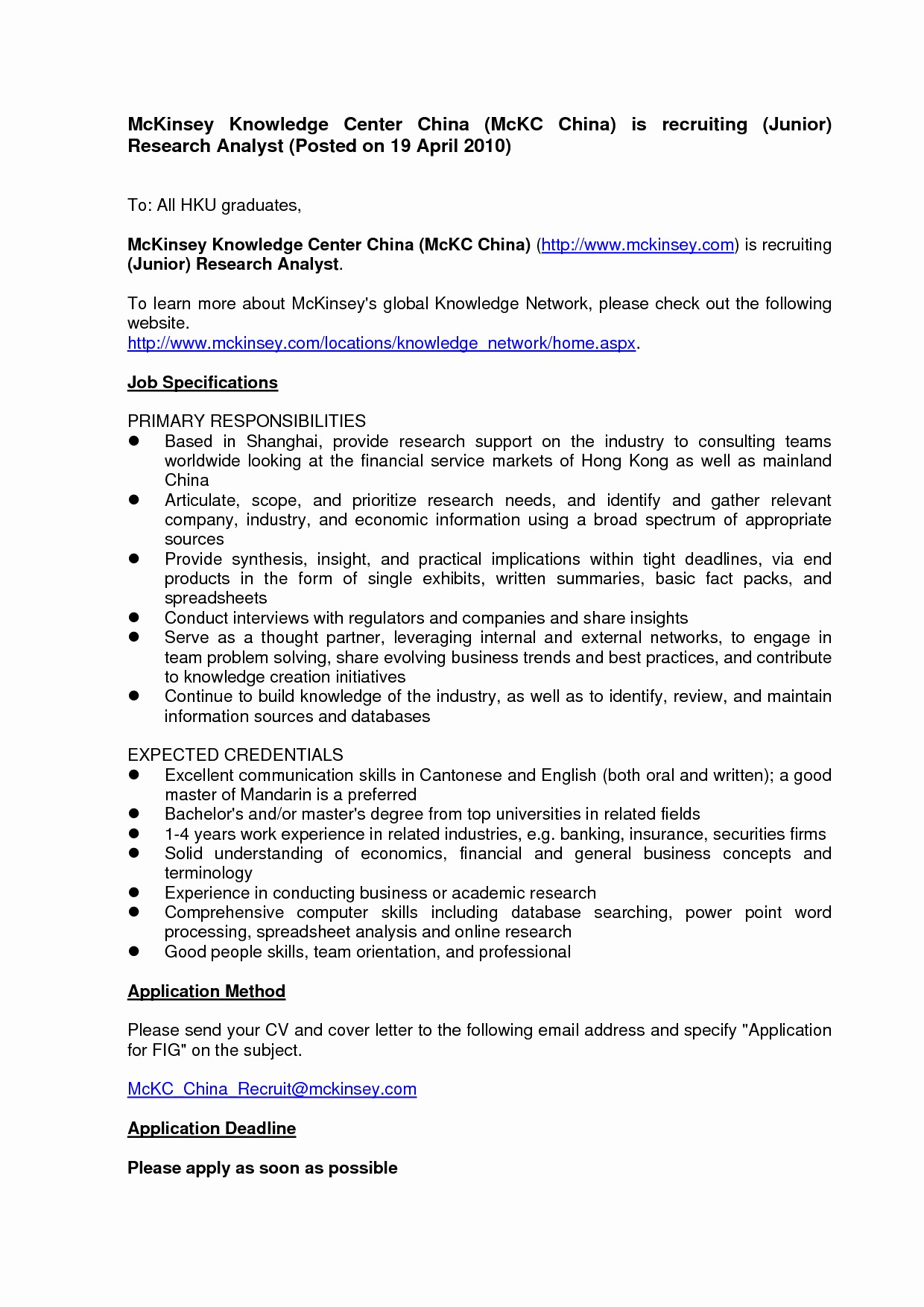 Employment Cover Letter Template Word Collection