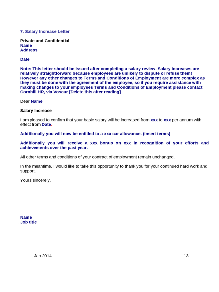Vehicle Storage Fee Letter Template - Salary Increase Request Letter Employer Pay Rise Claim Sample Doc