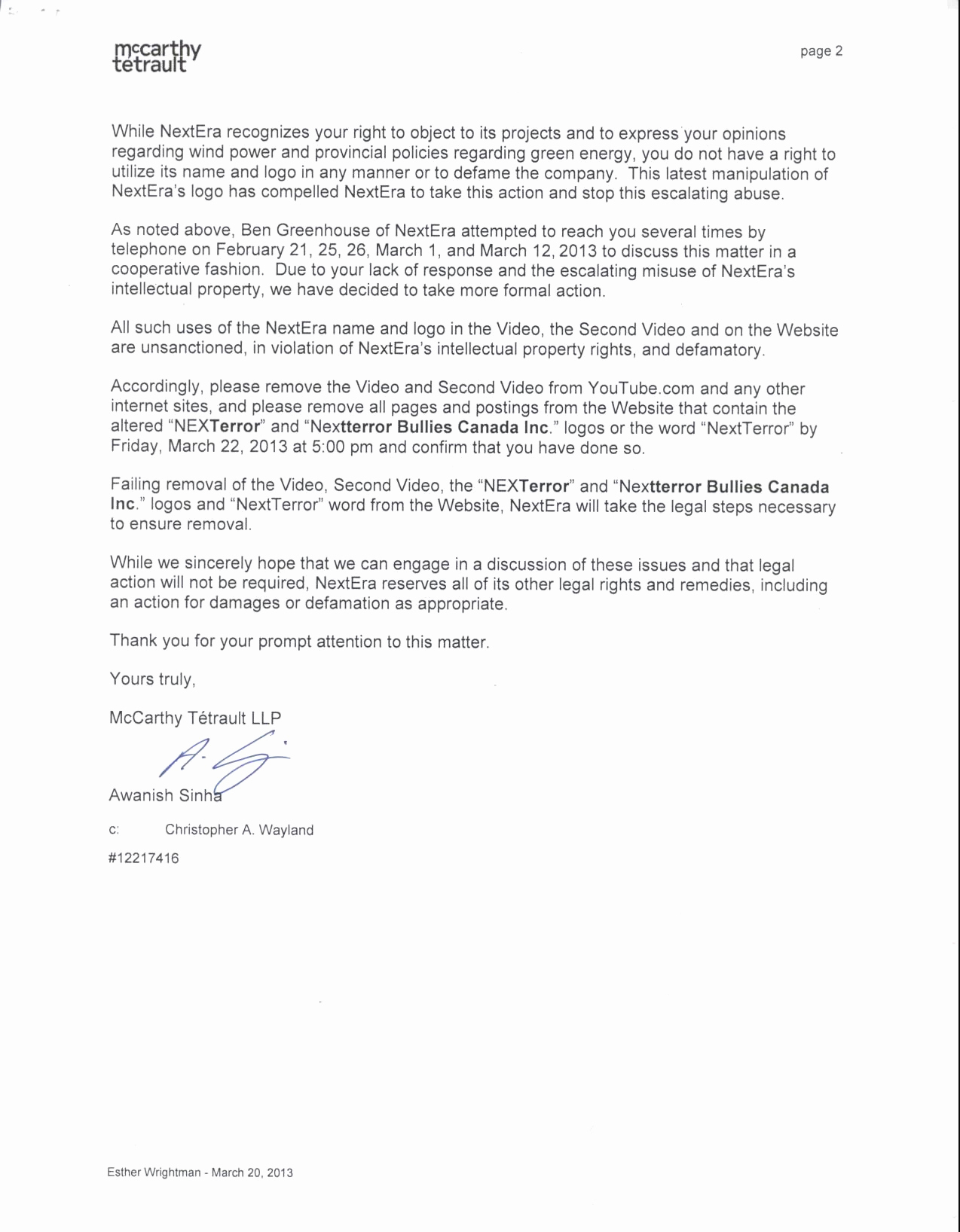 Free Cease And Desist Letter Template Canada Examples Letter