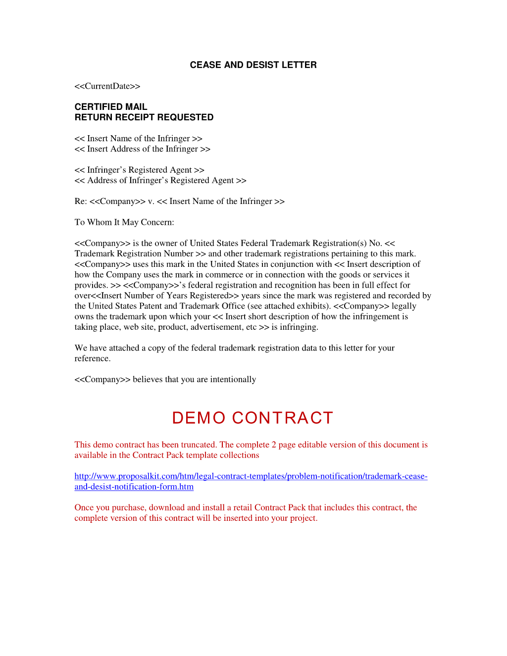 Cease and Desist Letter Breach Of Contract Template - Sample Cease and Desist Letter to former Employee Ideas