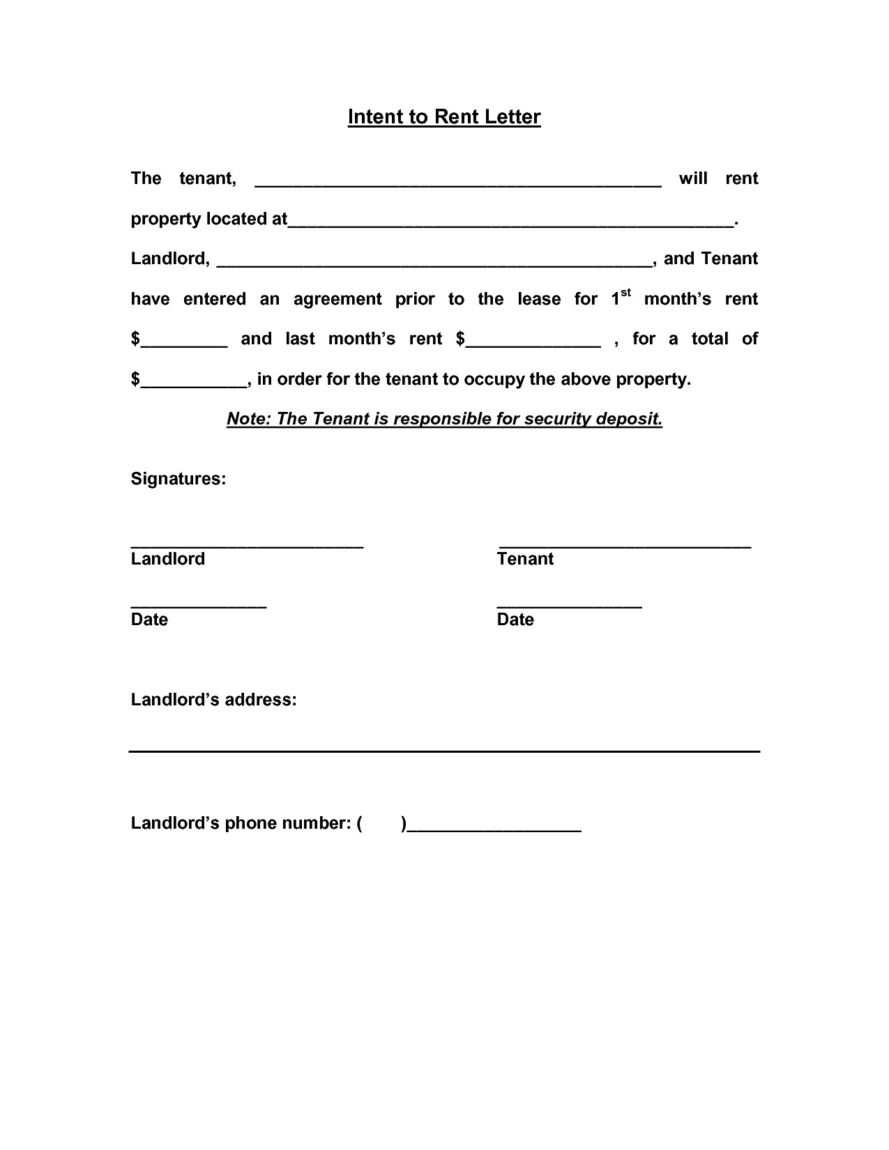 Letter Of Intent to Rent Template - Sample Certificate Free Rental Awesome Residential Intent to