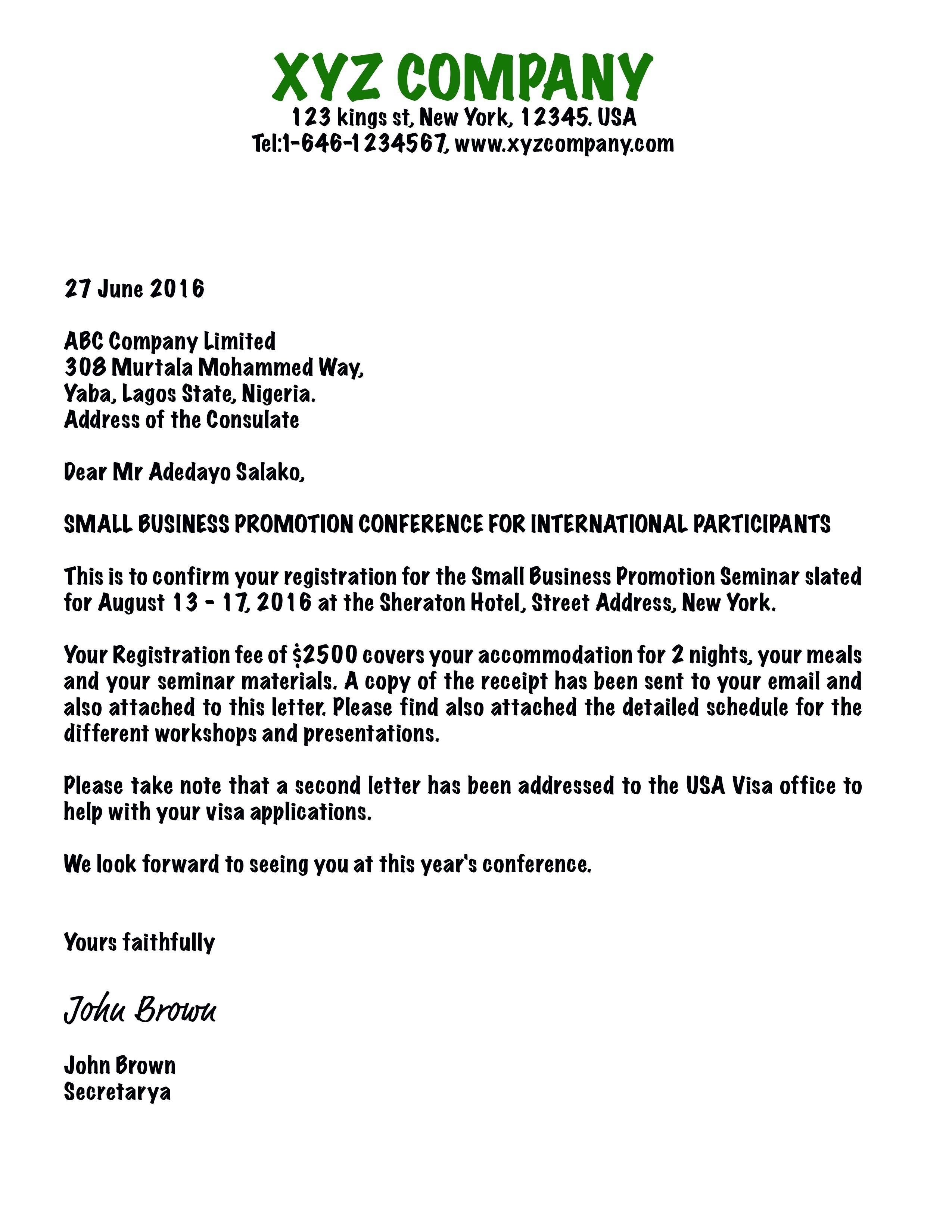Business Invitation Letter Template - Sample Certificate Non Advancement Maternity Benefit Fresh