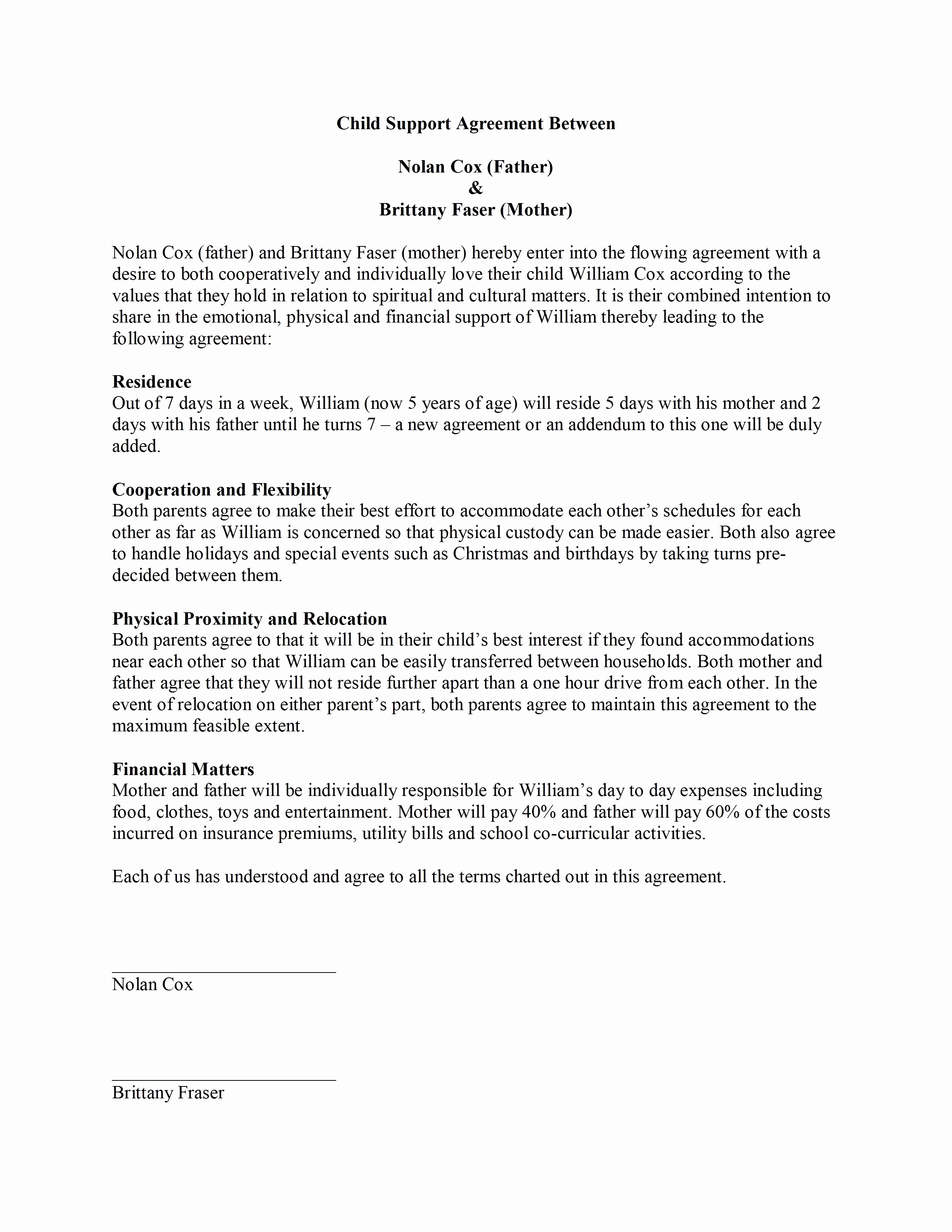 Child Support Letter Template - Sample Child Support Letter Template New Job Fer Letter Template Us