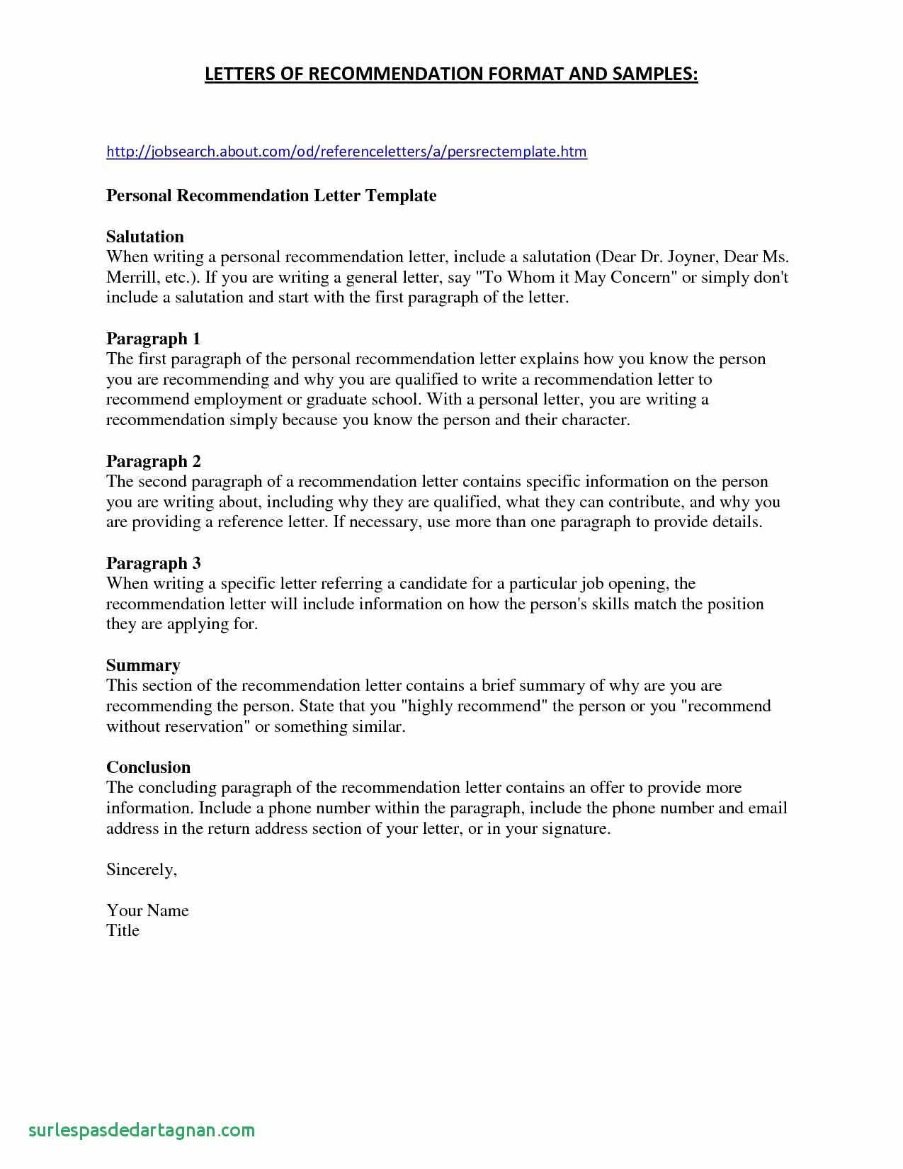 General Letter Of Recommendation Template - Sample Cover Letter for Job with Referral Save General Cover Letter