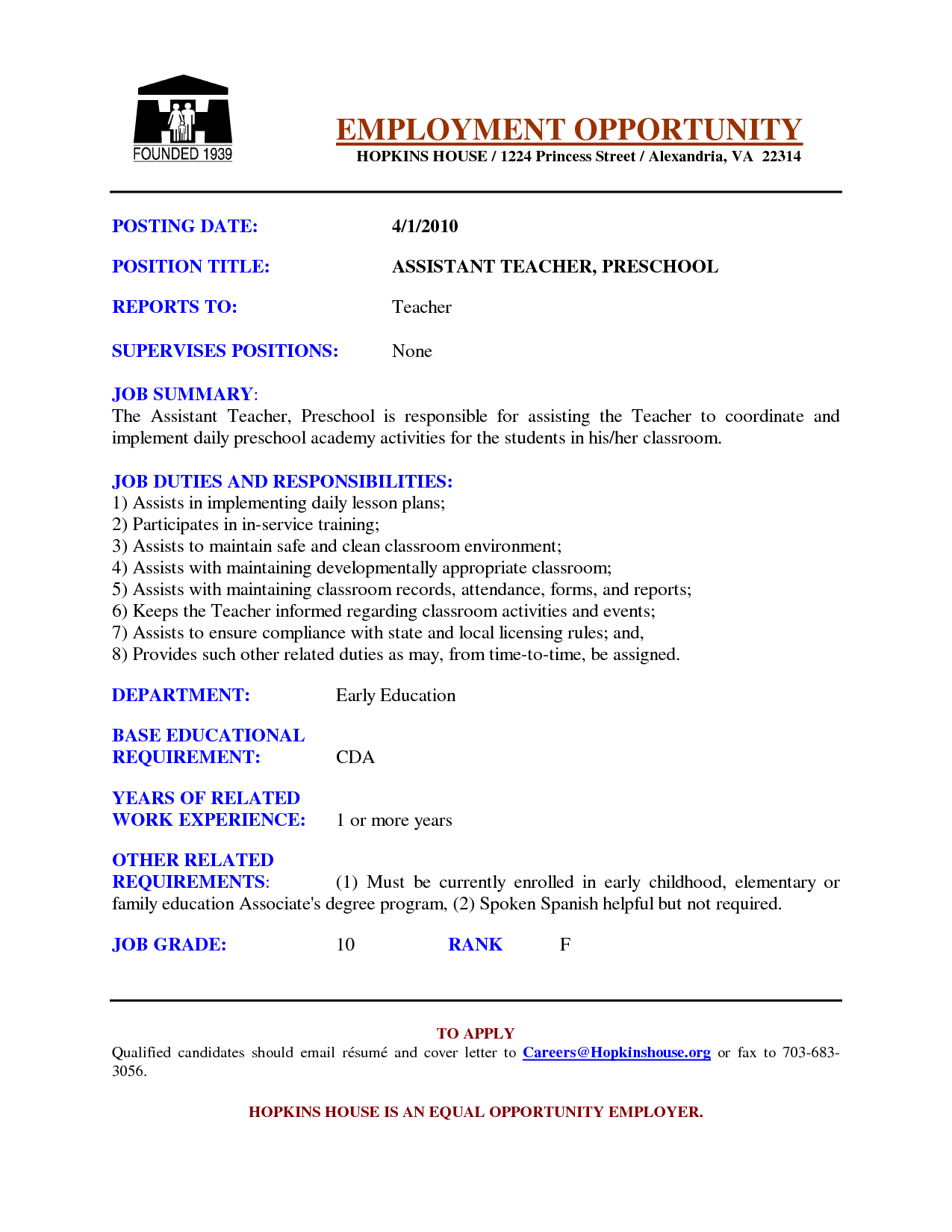 Cover Letter for Teaching Job Template - Sample Cover Letters for Teachers Samples