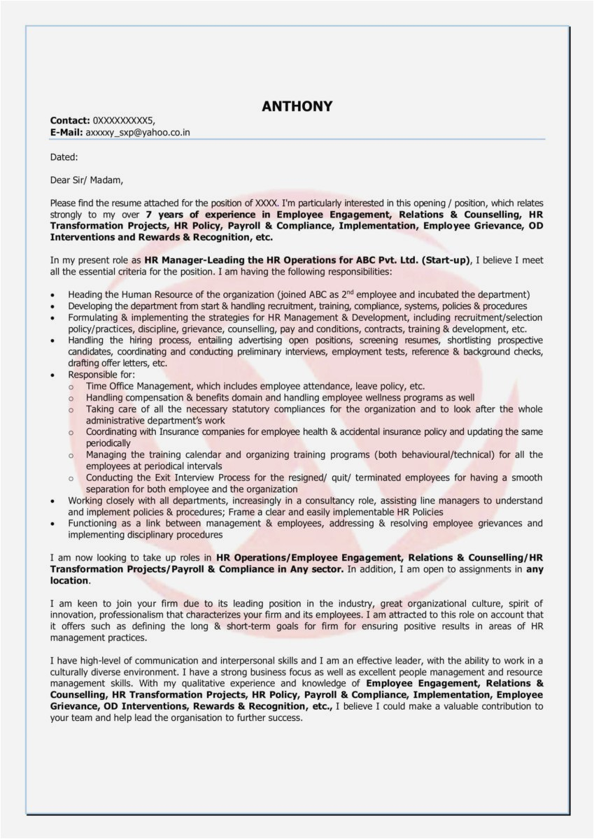 Company Offer Letter Template - Sample Cover Letters Gallery Examples Cover Letter Beautiful Cover