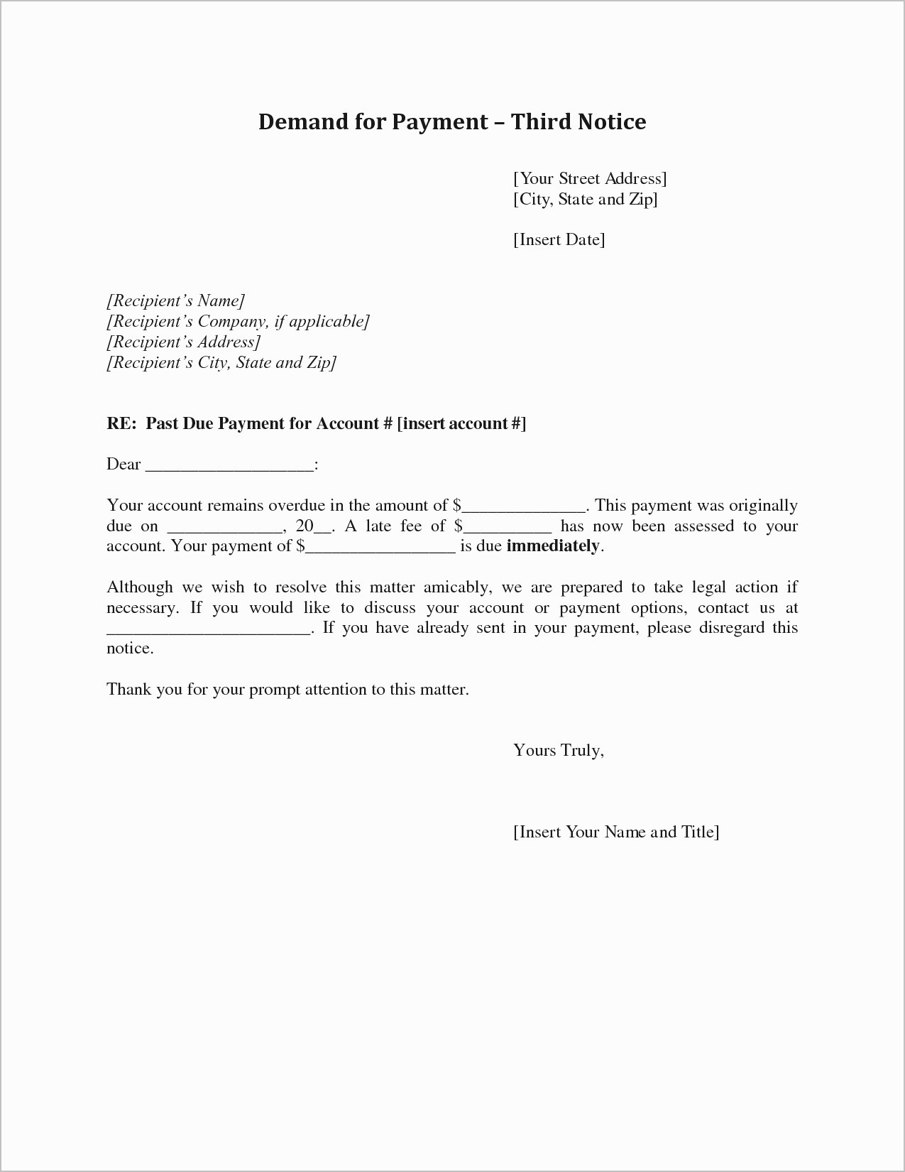Demand for Payment Letter Template Free Examples