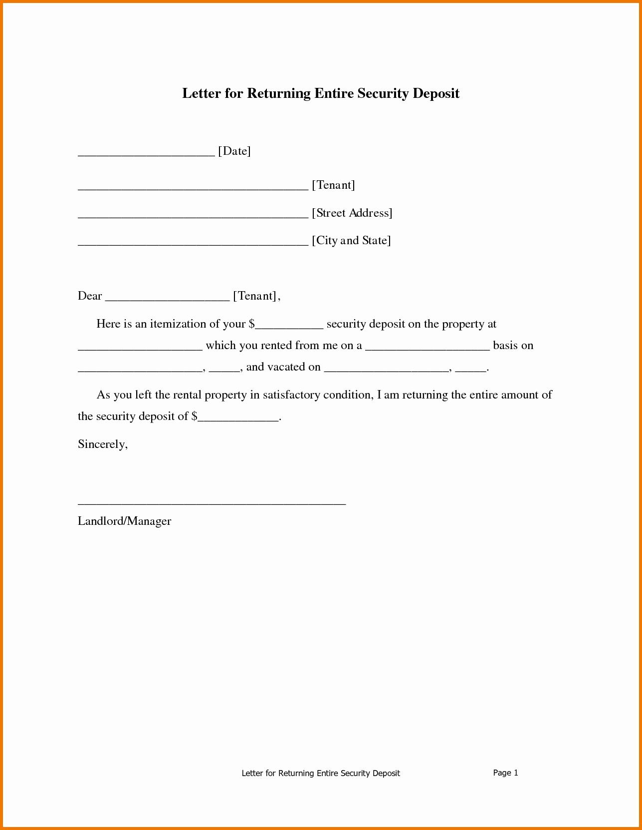 Formal Demand Letter Template - Sample Demand Letter for Unpaid Rent Inspirational Security Deposit
