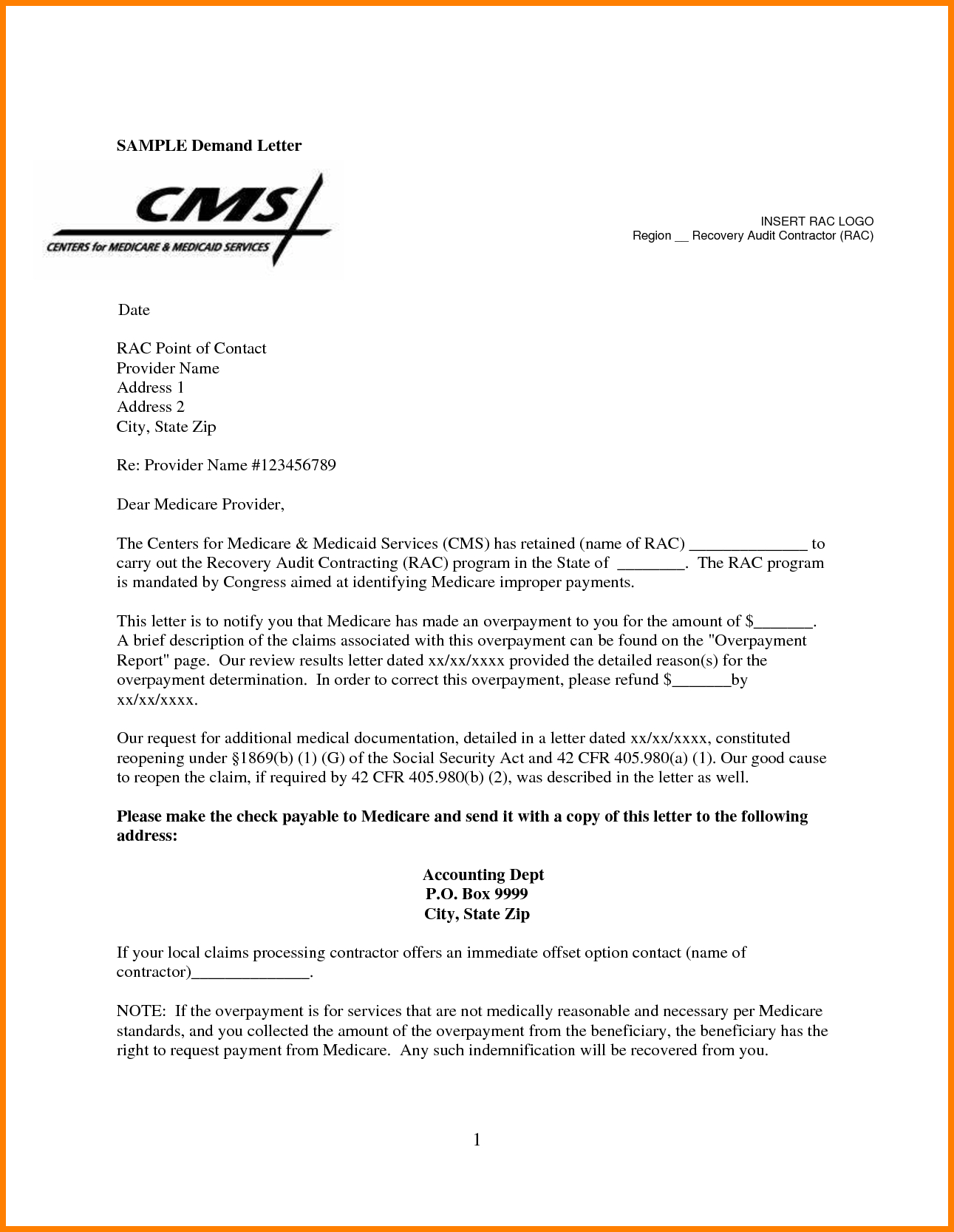subrogation demand letter template sample demand letter from attorney