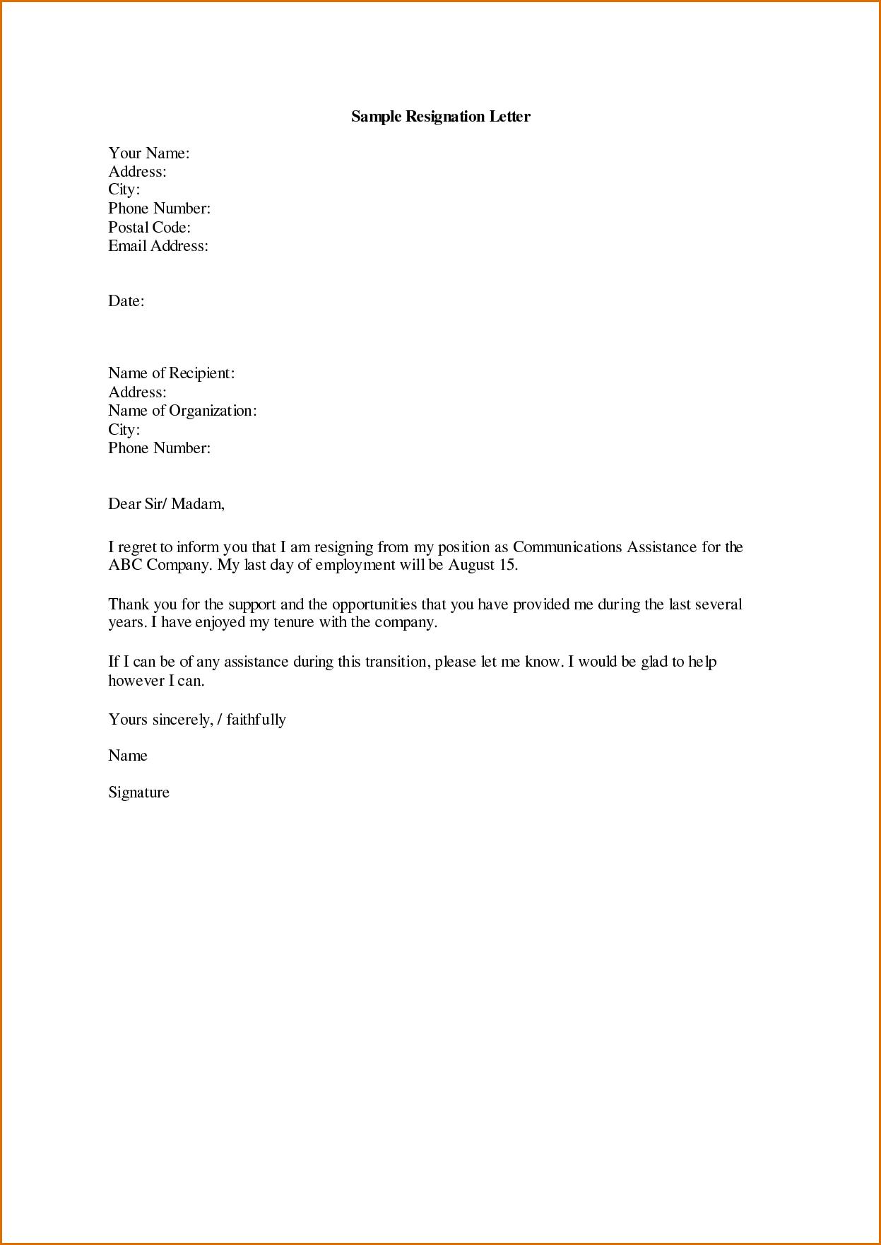 Letter Of Resignation Teacher Template - Sample Displaying 16 Images for Letter Of Resignation Sample toolbar