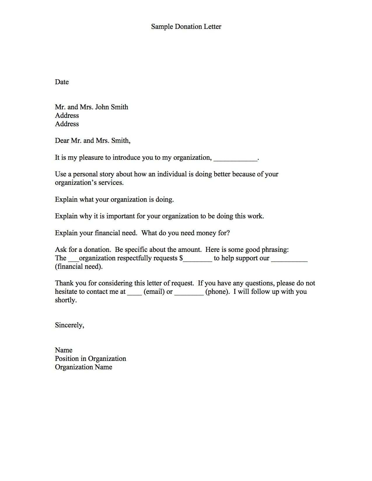 sponsorship letter template for non profit example-Thanks Letter for non profit donation 14-a