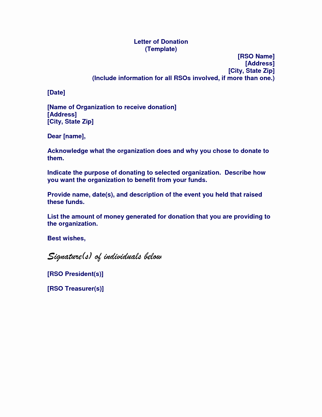 Memorial Donation Letter Template - Sample Donation Request Letter for School New Fundraising Thank You