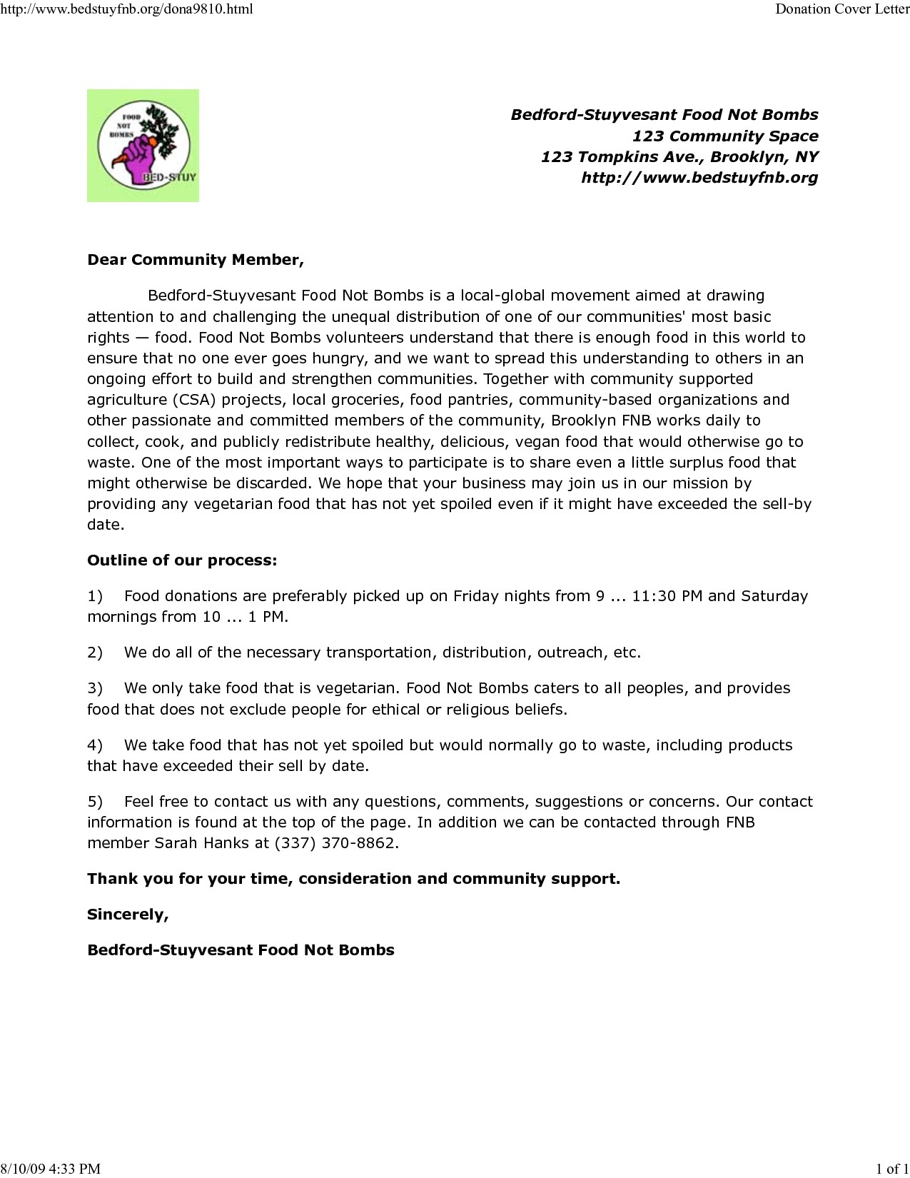 Food Donation Letter Template - Sample Food Donation Letter Acurnamedia