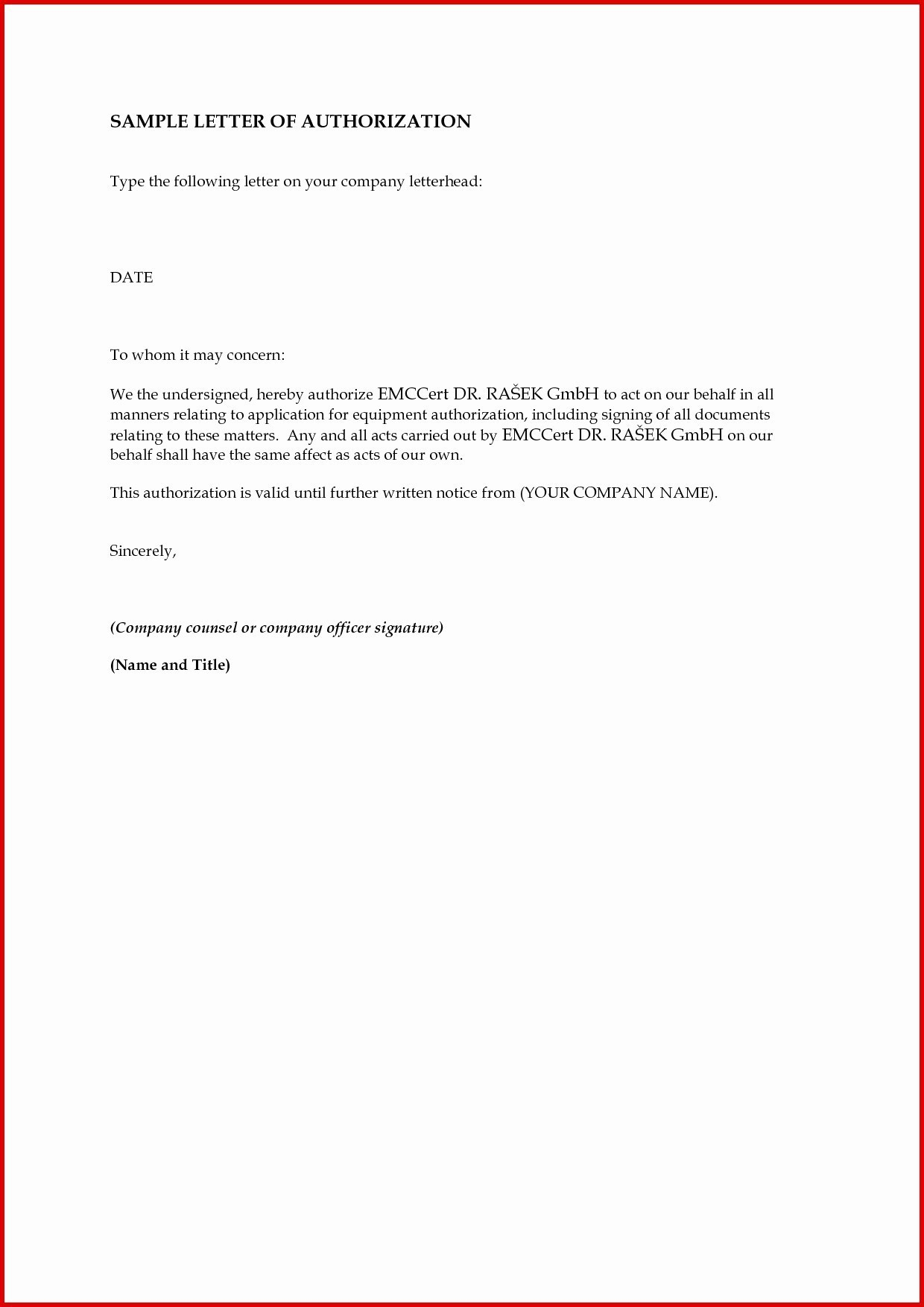 Child Care Authorization Letter Template - Sample form Letter New Custom Clearance India Sample Authorization