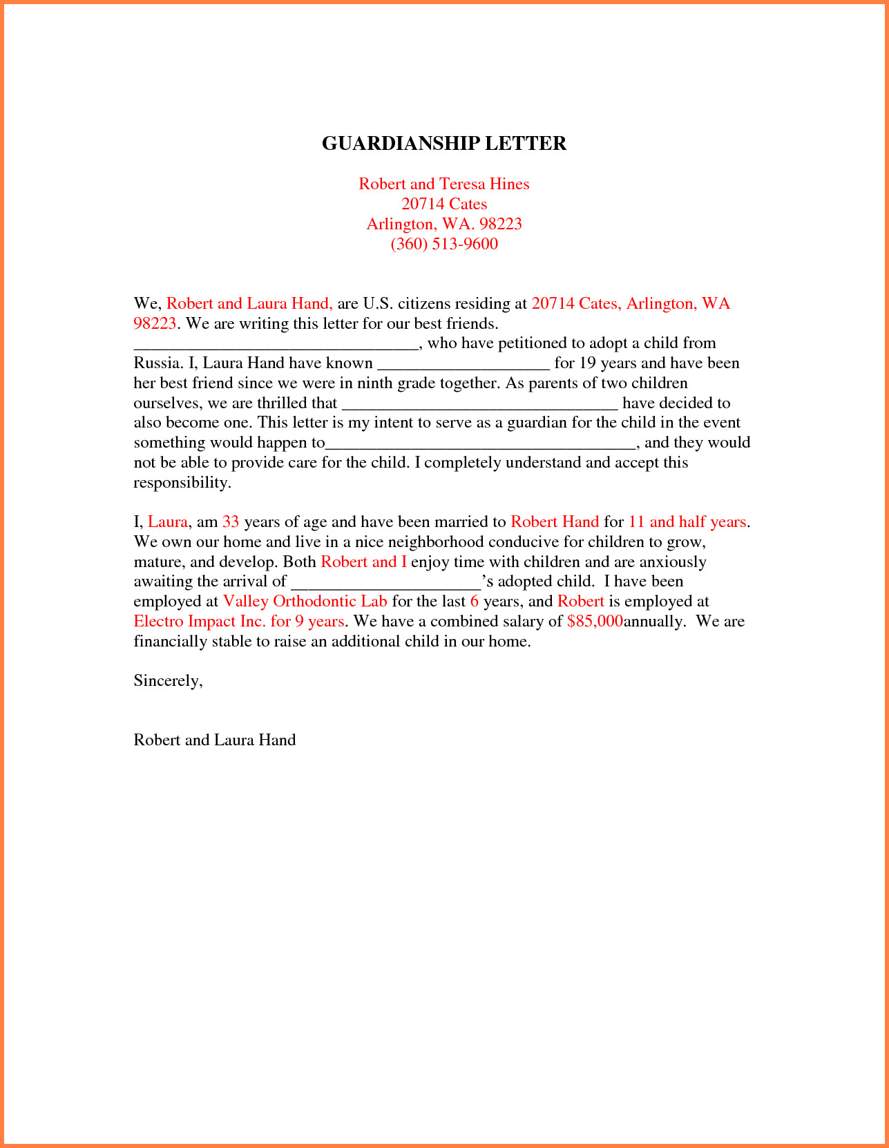 Free Guardianship Letter Template - Sample Guardianship Letter Inspirational Nice Temporary Guardianship
