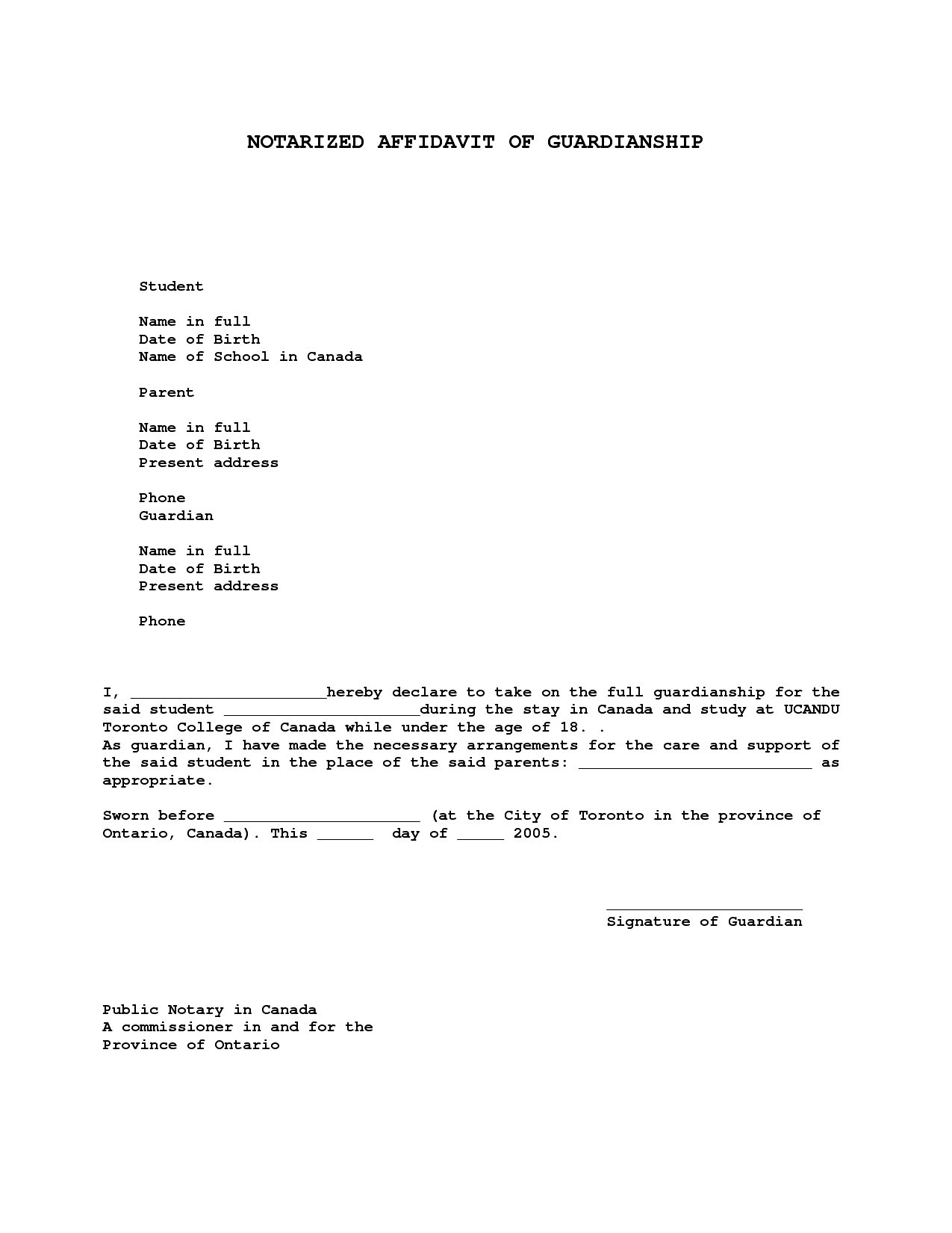 Notary Letter Template Free - Sample Guardianship Letter Unique Nice Temporary Guardianship Letter