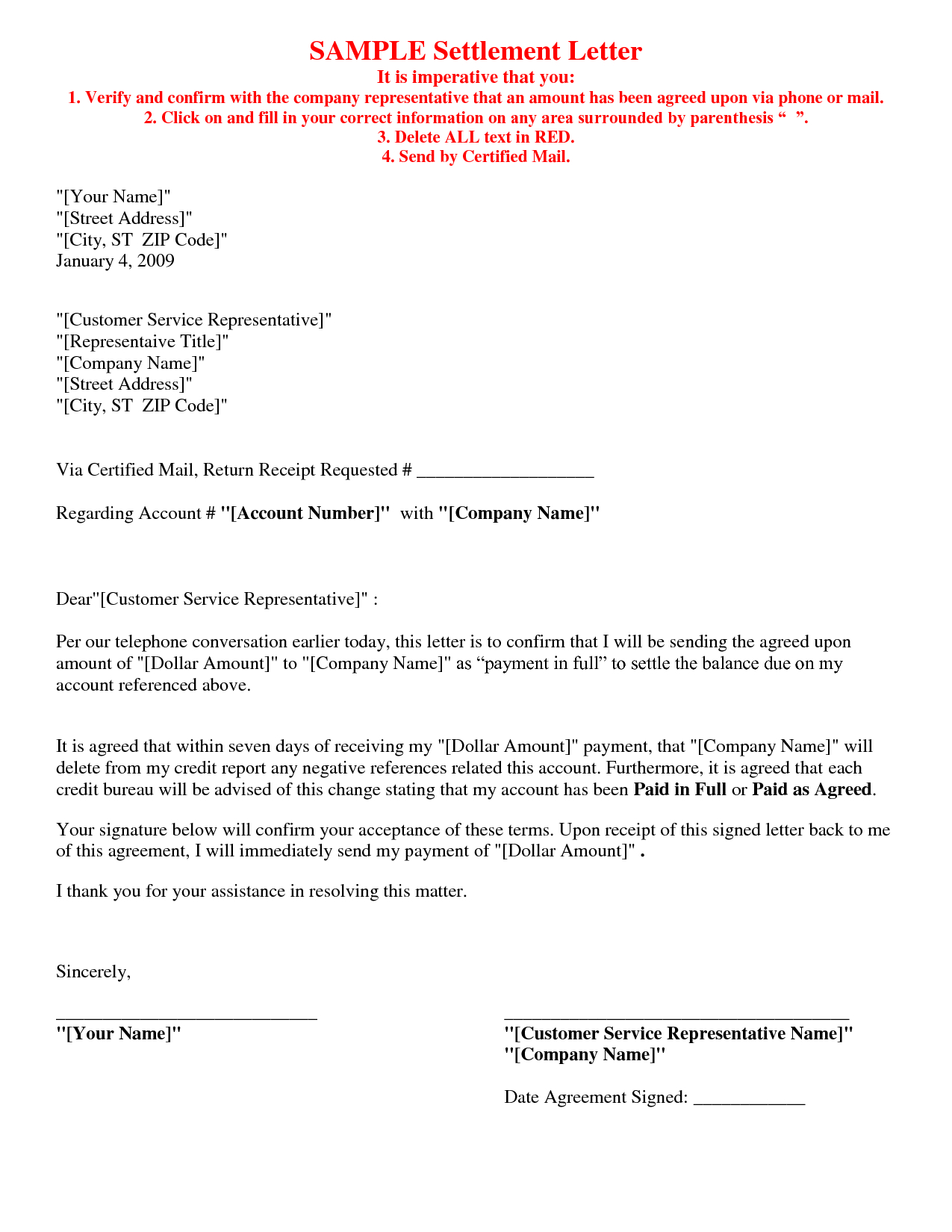 Full and Final Settlement Letter Template Car Accident - Sample Legal Letter Template