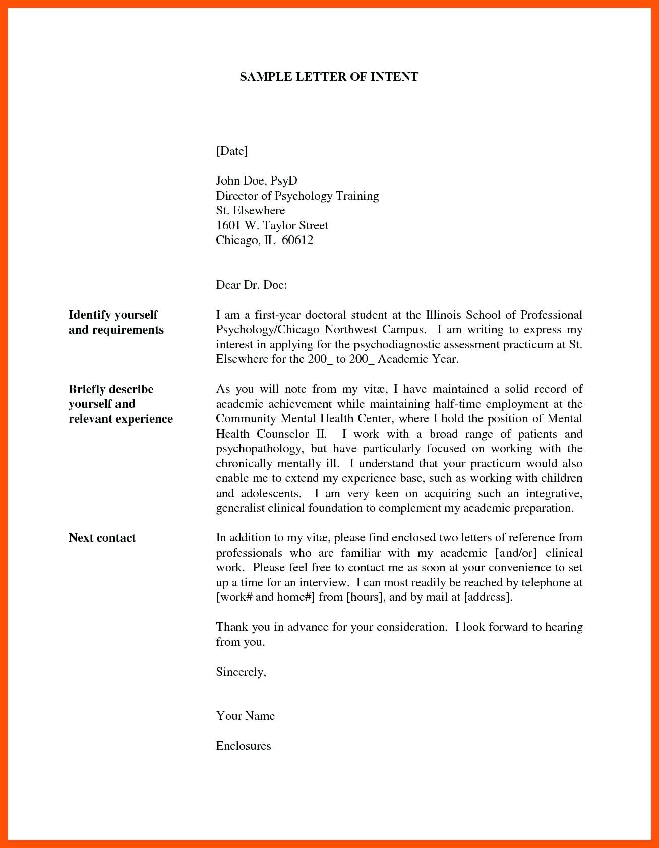 Letter Of Intent for Job Template - Sample Letter Intent for Job Template How to Write Sue Money A
