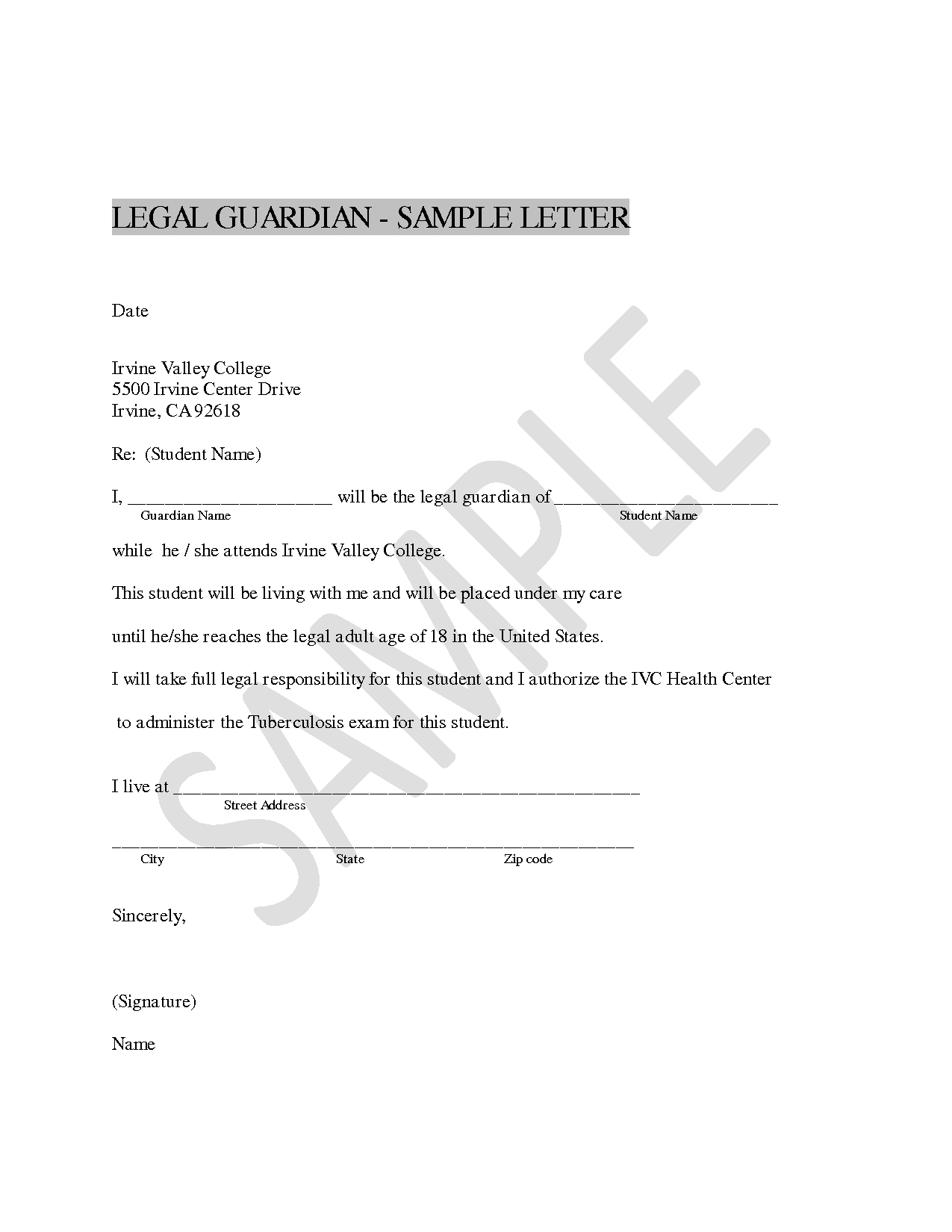 legal guardianship letter template sample letter intent foruardianship best s senior child for
