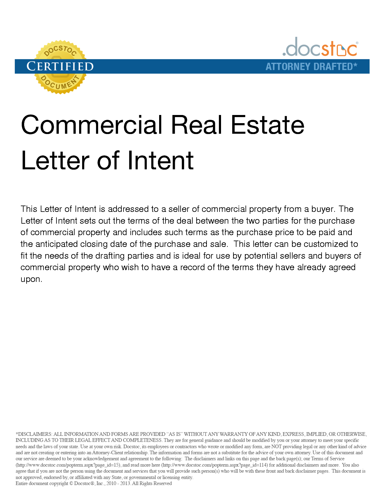 Real Estate Letter Of Intent Template - Sample Letter Intent Purchase Real Estate Best S Property