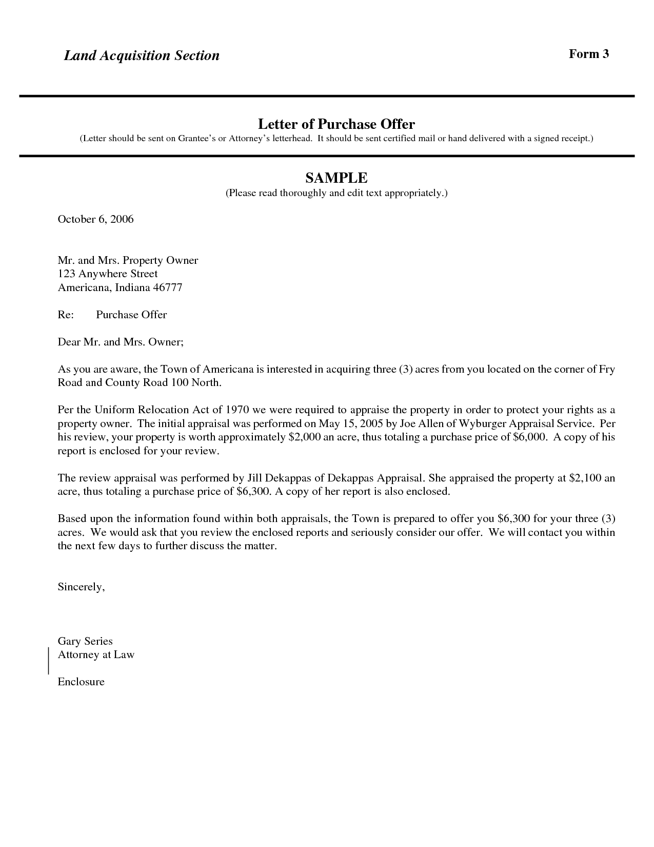 Letter Of Intent to Purchase Land Template Samples | Letter