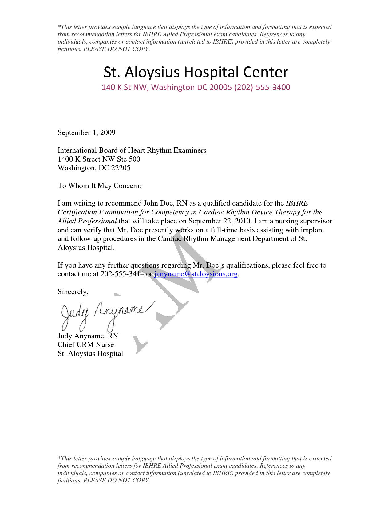 Nursing School Recommendation Letter Template - Sample Letter Re Mendation for Nursing Program Ideas Sample