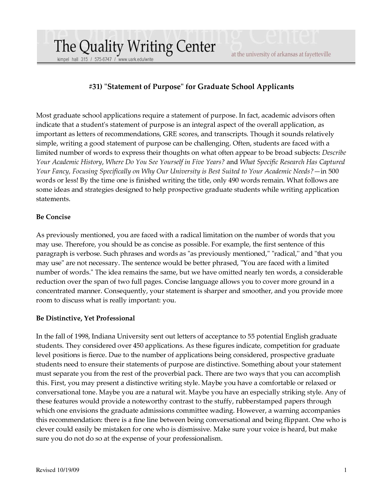 letter of intent template graduate school example-Sample Personal Statements Graduate School 1-i
