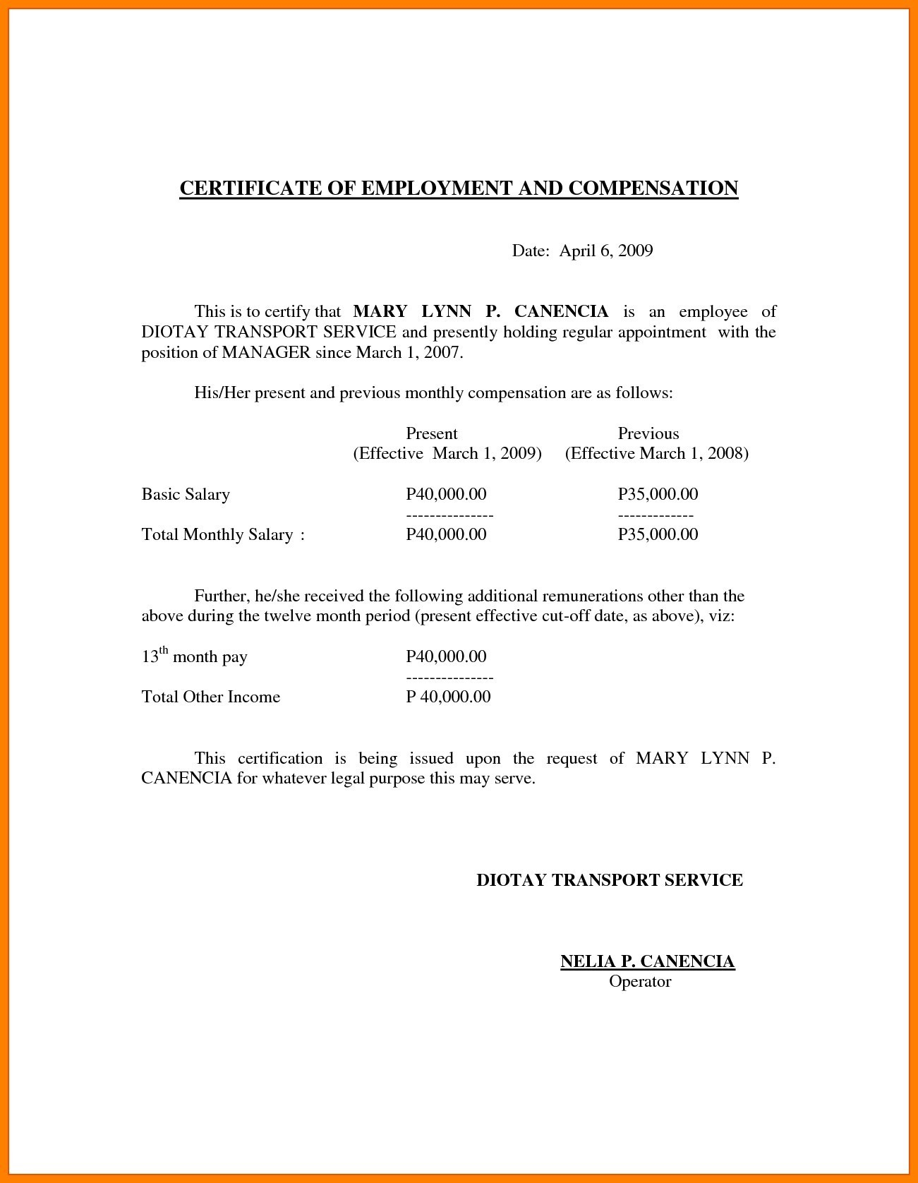 Proof Of Employment and Salary Letter Template - Sample Professional Employment Certificate Best Certificate