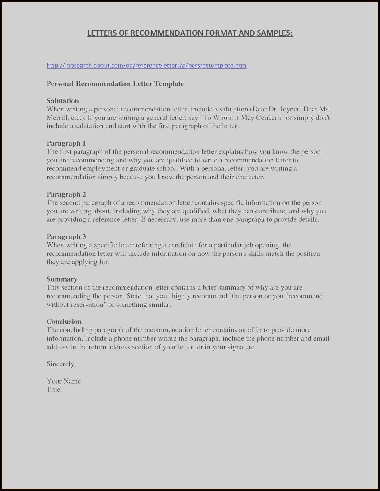 Nursing School Recommendation Letter Template - Sample Re Mendation Letter for Job Inspirationa Nursing School Re