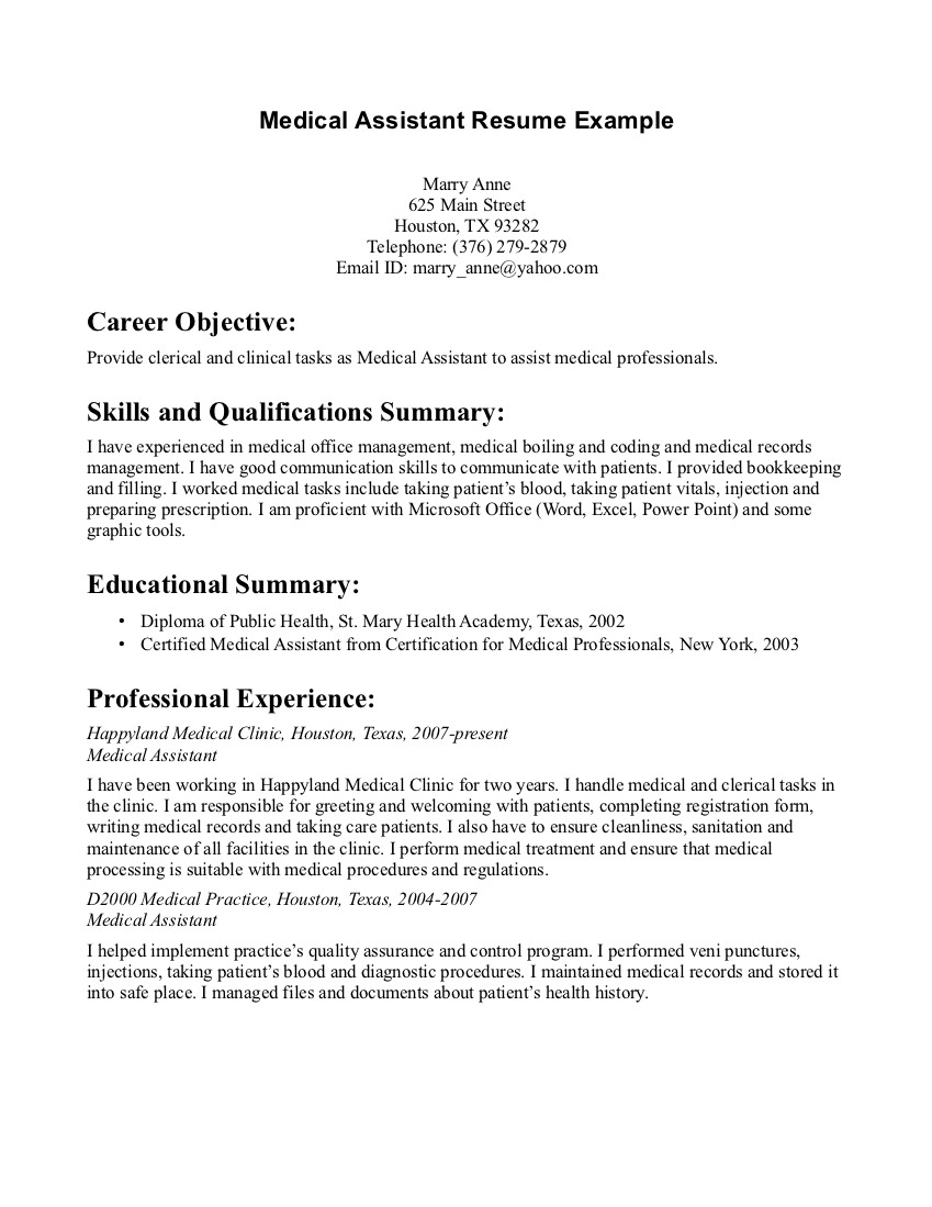Cover Letter Template for Medical Office assistant - Sample Resume for Medical assistant Cover Letter for Medical