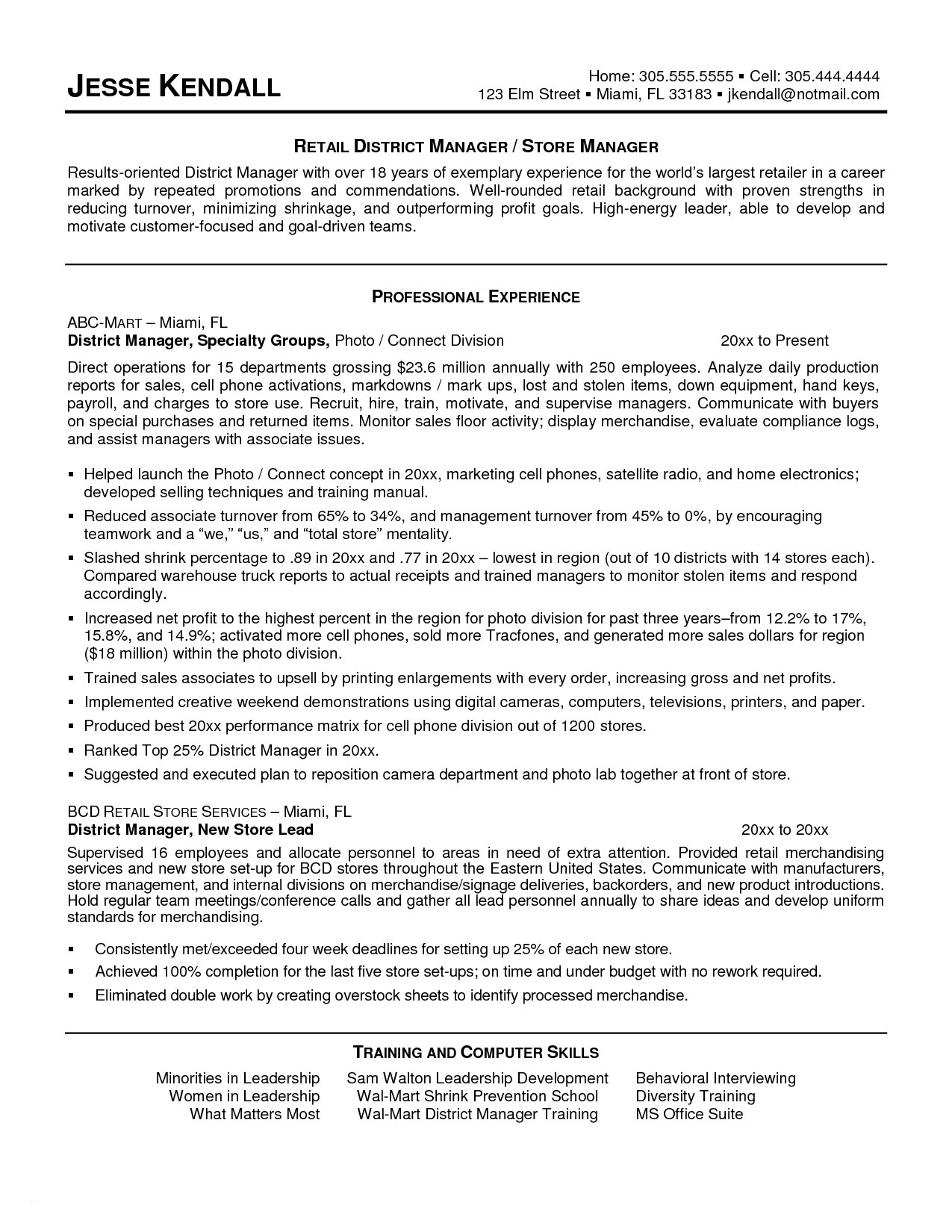 Cover Letter Template Retail Manager - Sample Retail Resume 21 Lovely Retail Manager Resume Roddyschrock