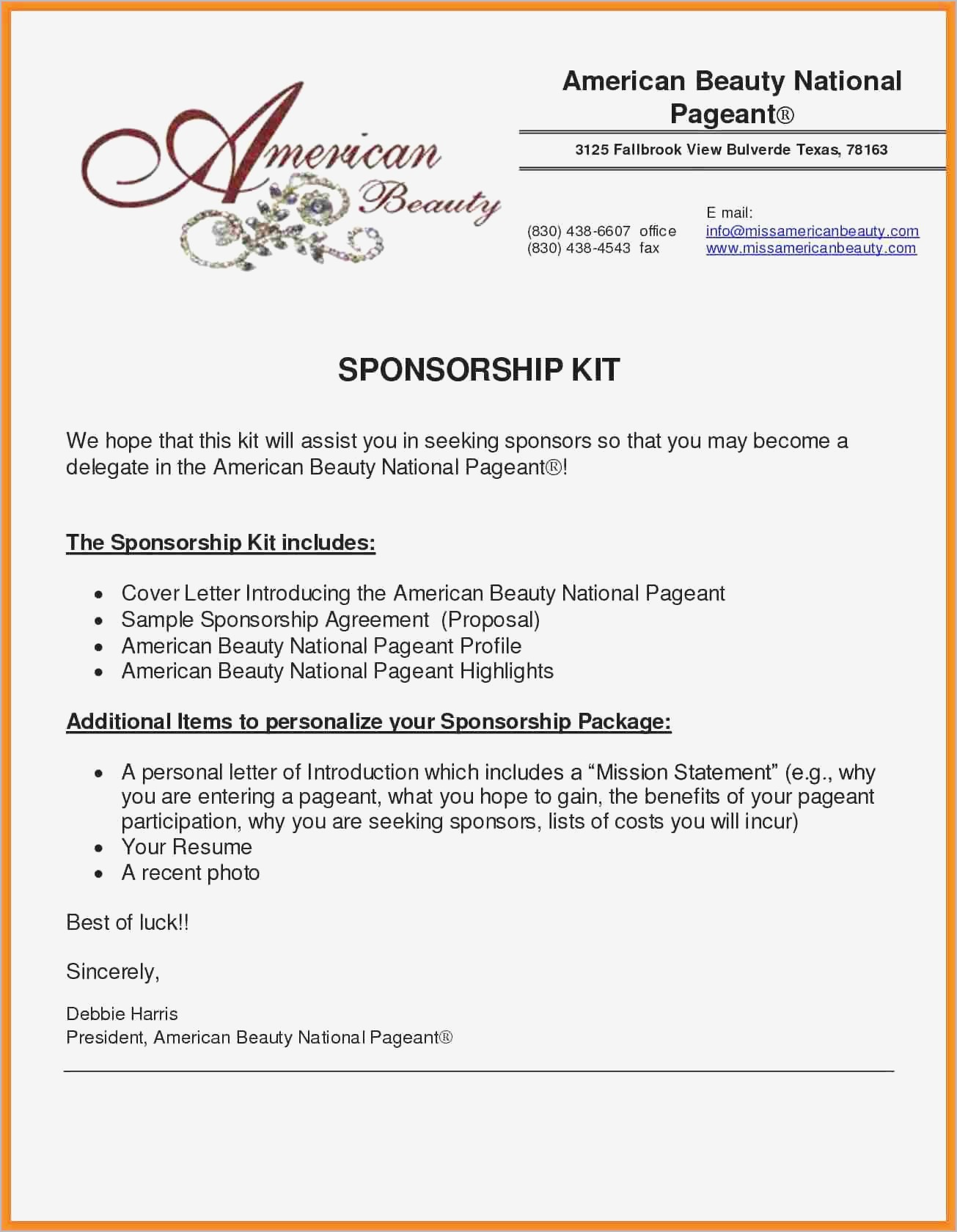sponsorship proposal letter template sample sponsorship proposal pdf format