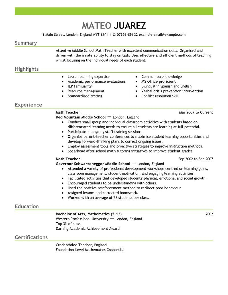 Cover Letter Template for Teaching assistant - Sample Teacher Resume format Acurnamedia