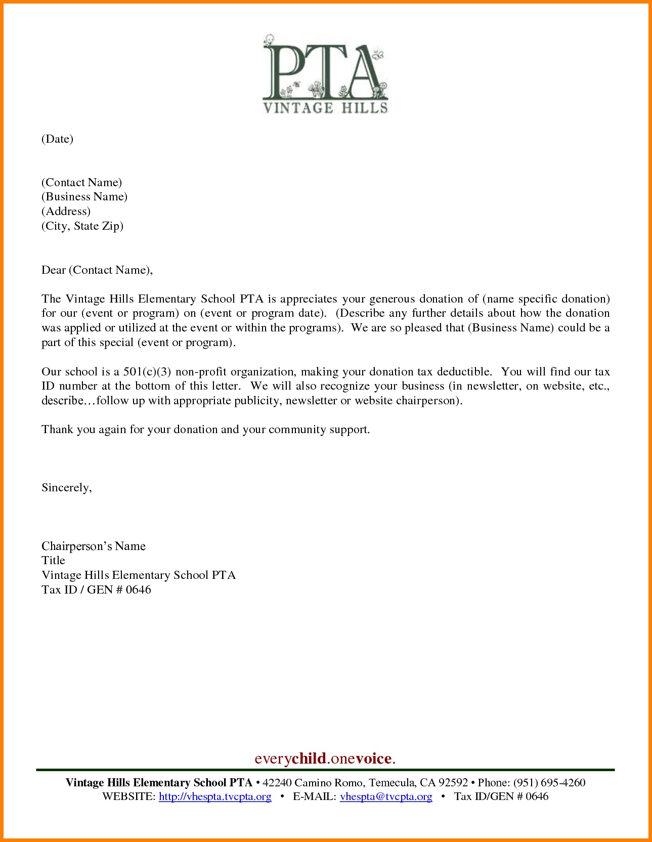 pta fundraising letter template samples letter template collection