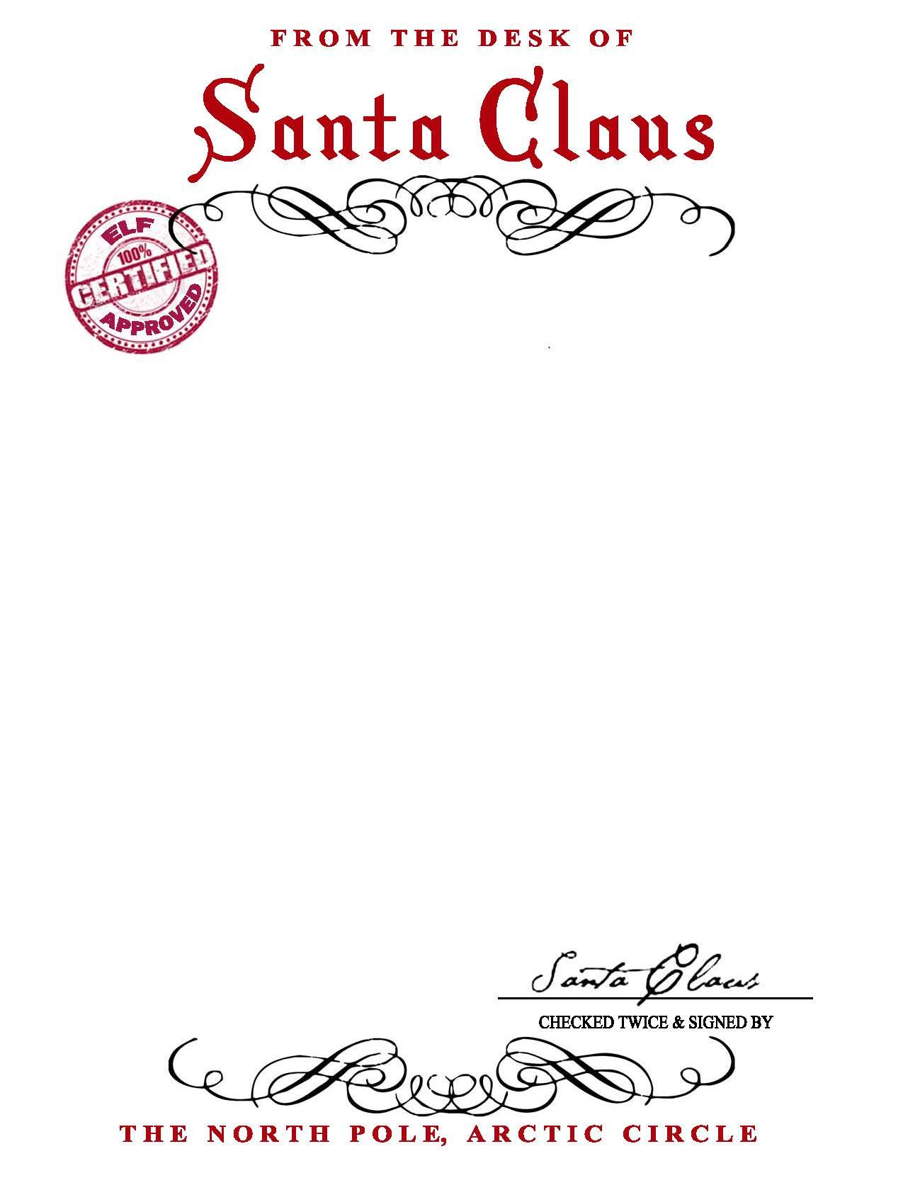 Free Printable Letter From Santa Word Template - Santa Claus Letterhead Will Bring Lots Of Joy to Children