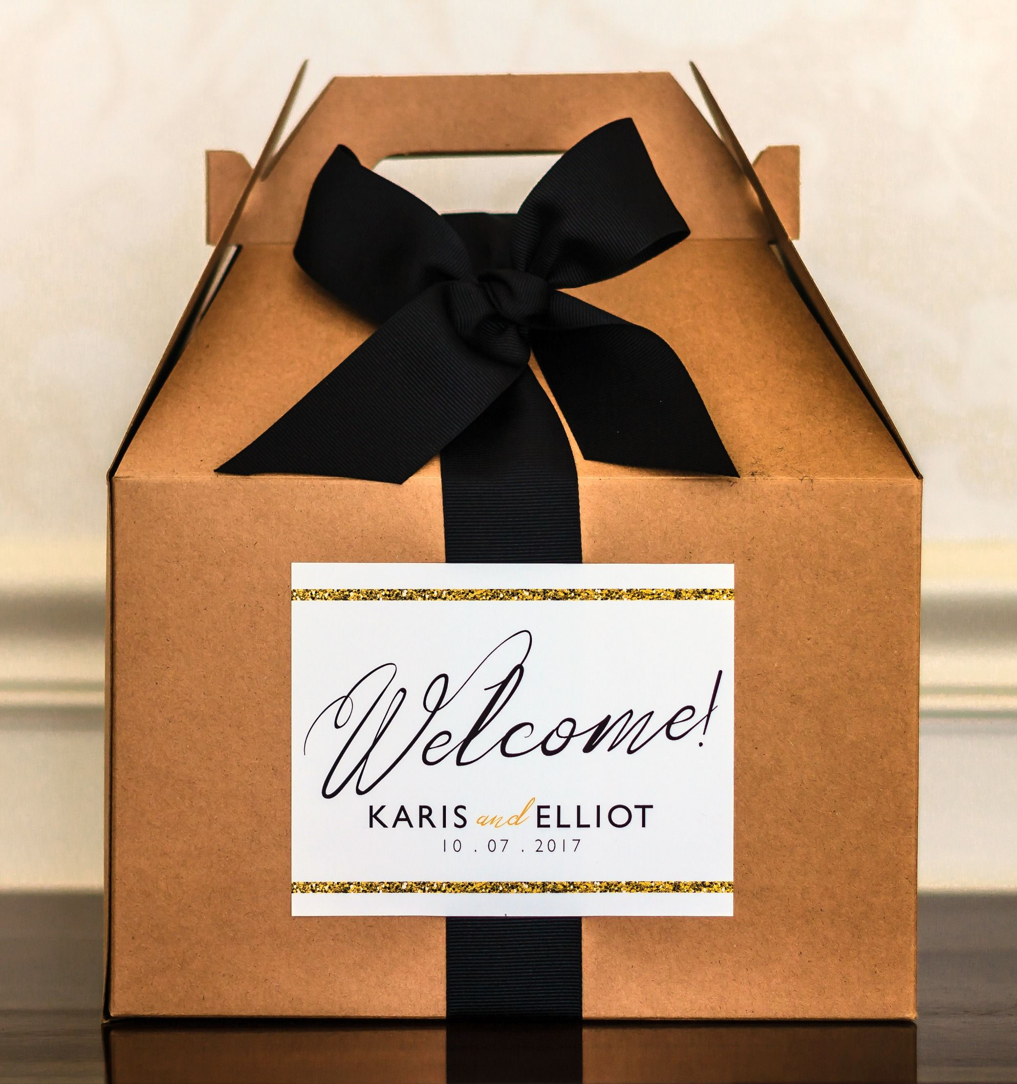 Wedding Welcome Bag Letter Template - Script Wedding Wel E Bag Stickers Gold Wel E Bag Labels