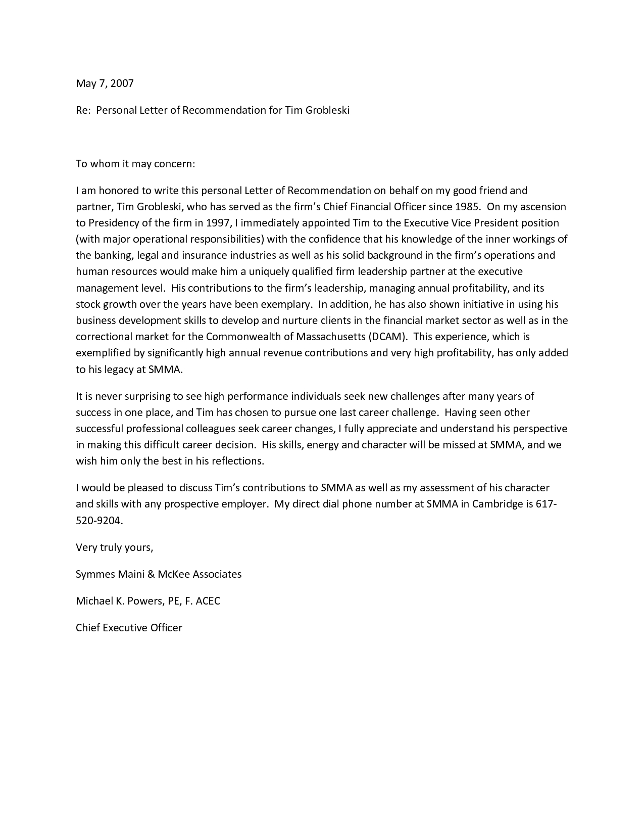 Personal Reference Letter for A Friend Template - Simple Reference Letter for A Friend Letter format formal