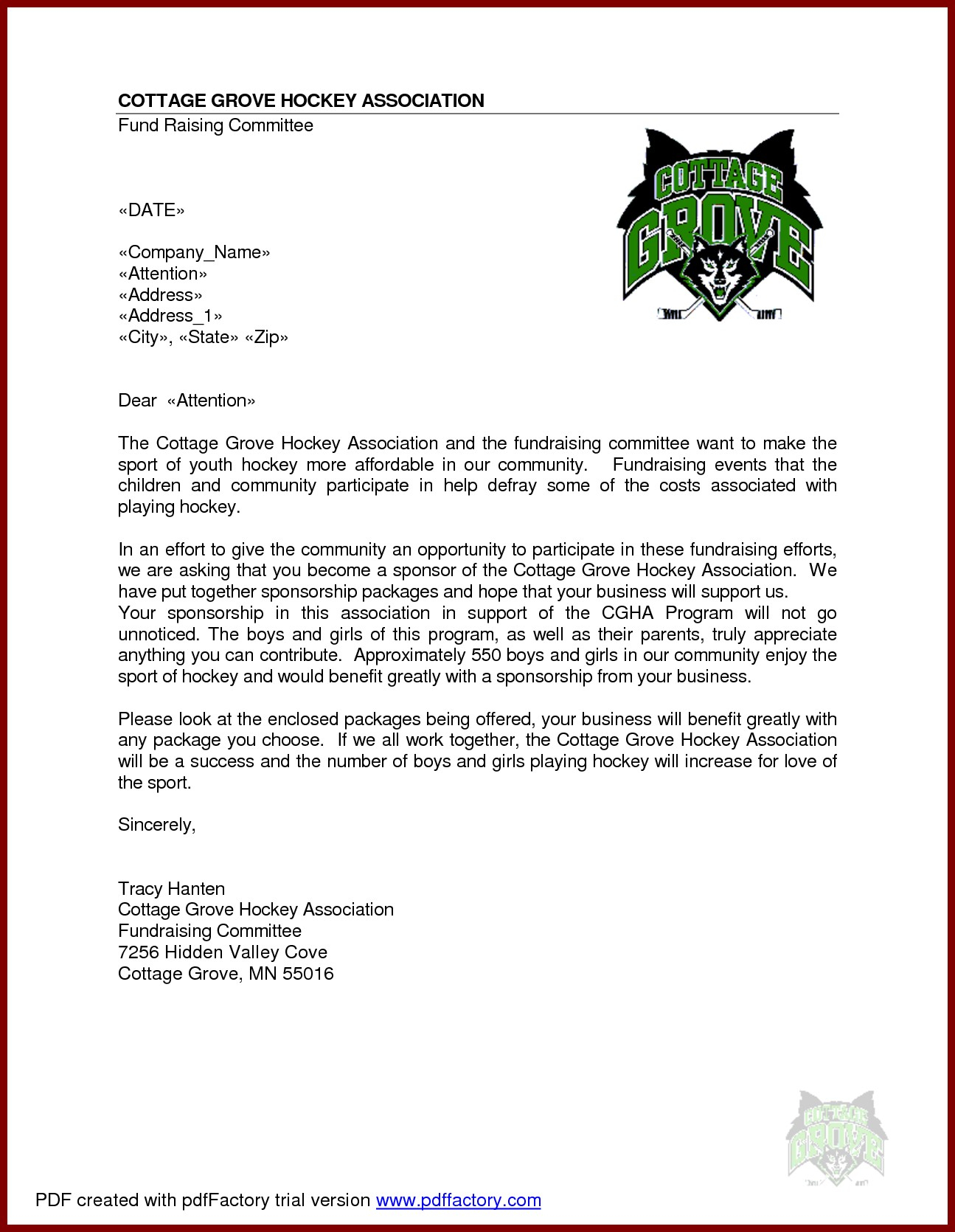 Donation Letter Template for Sports - Sponsorship Cover Letters for Sports New Sample Sponsorship Letter